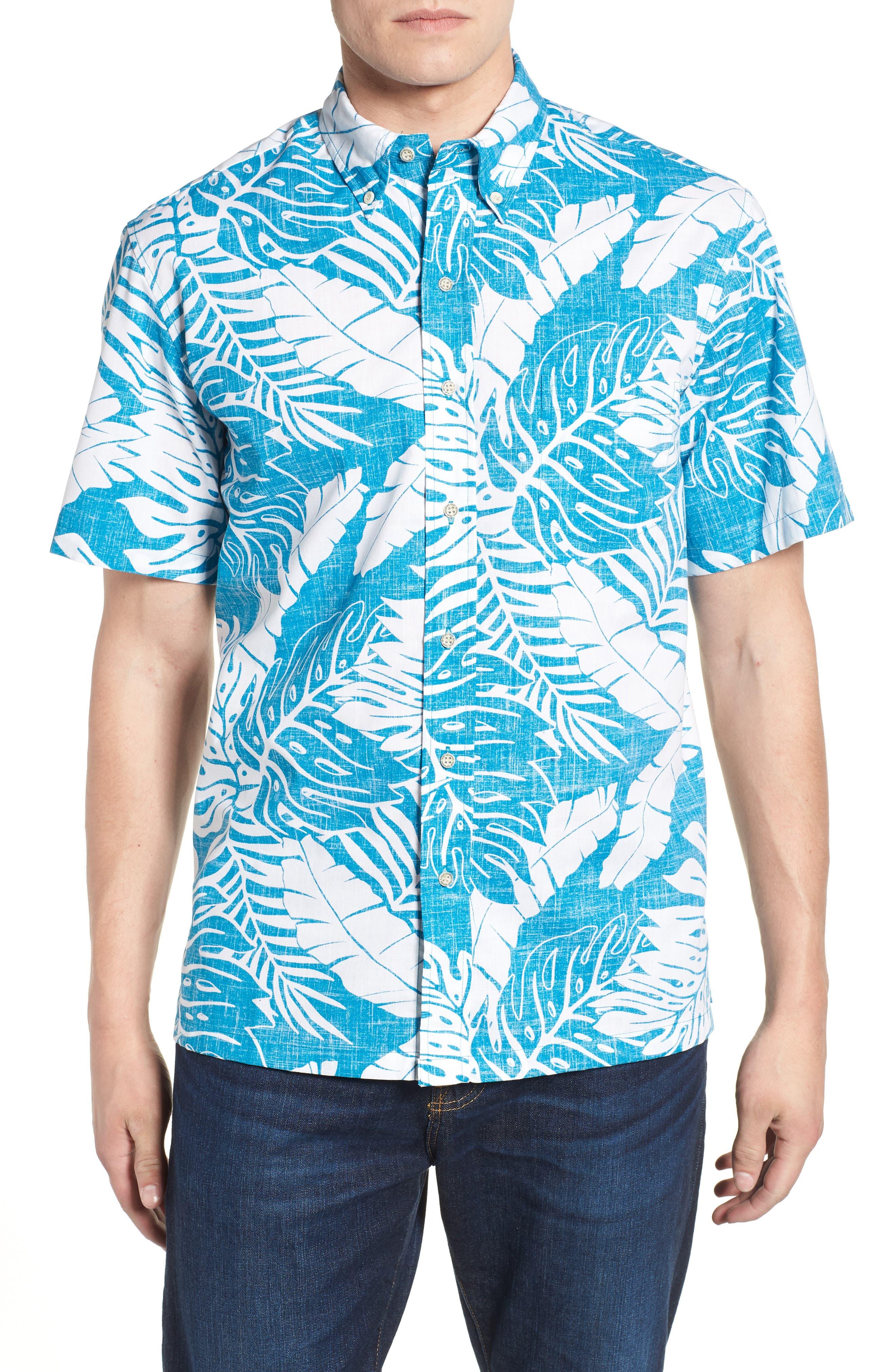 Avenue Falls Classic Fit Sport Shirt,                         Main,                         color, Blue