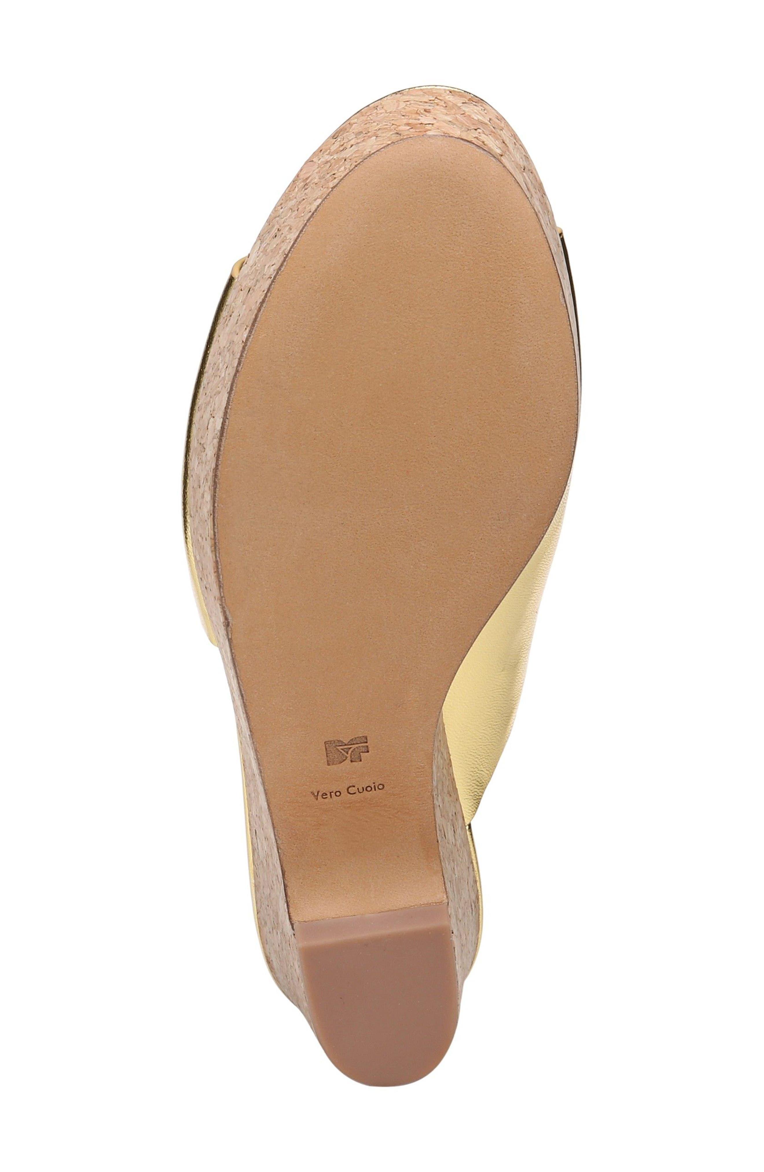 Bonnie Wedge Slide Sandal,                             Alternate thumbnail 5, color,                             Gold