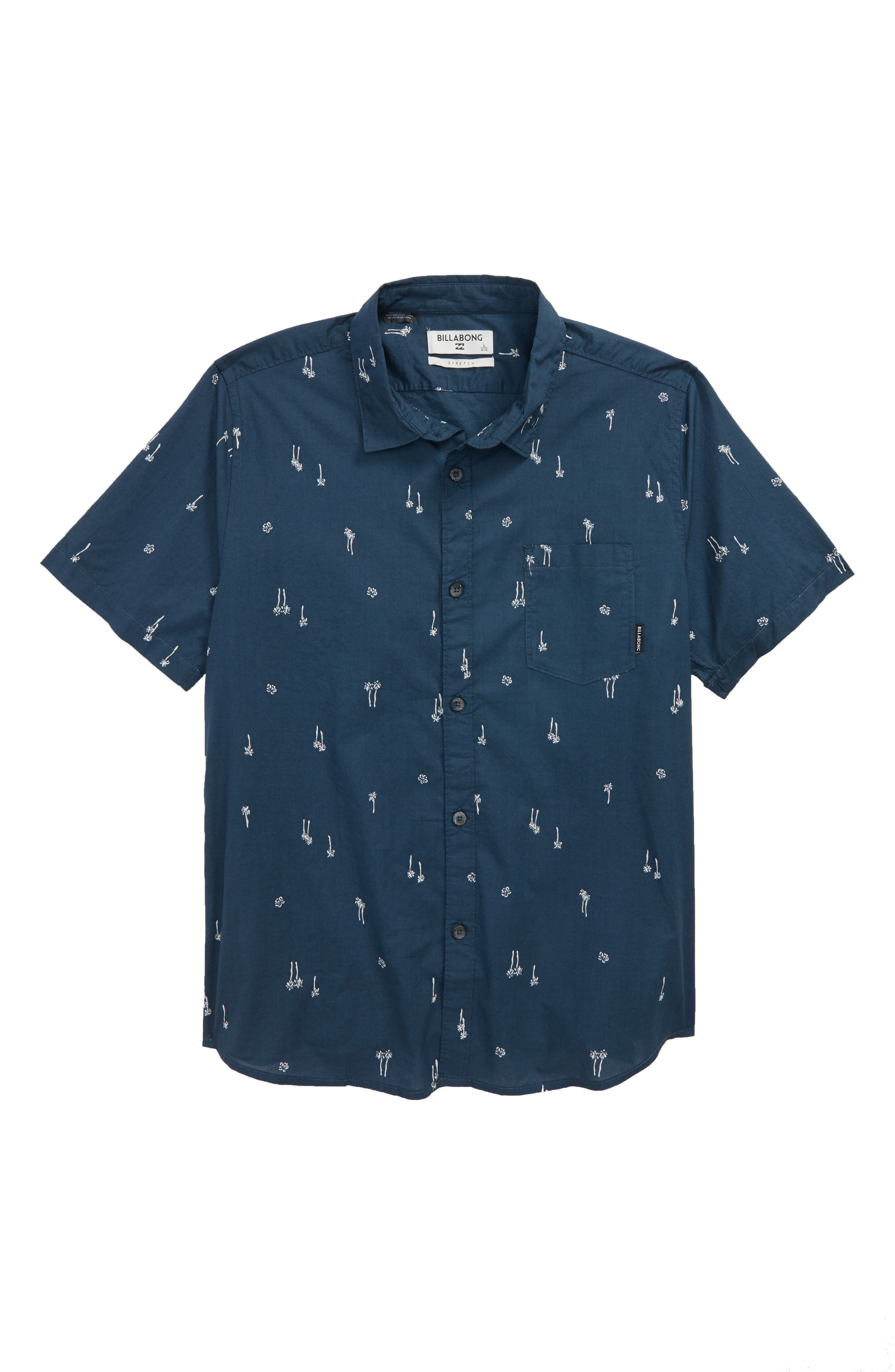Sundays Woven Shirt,                         Main,                         color, Navy