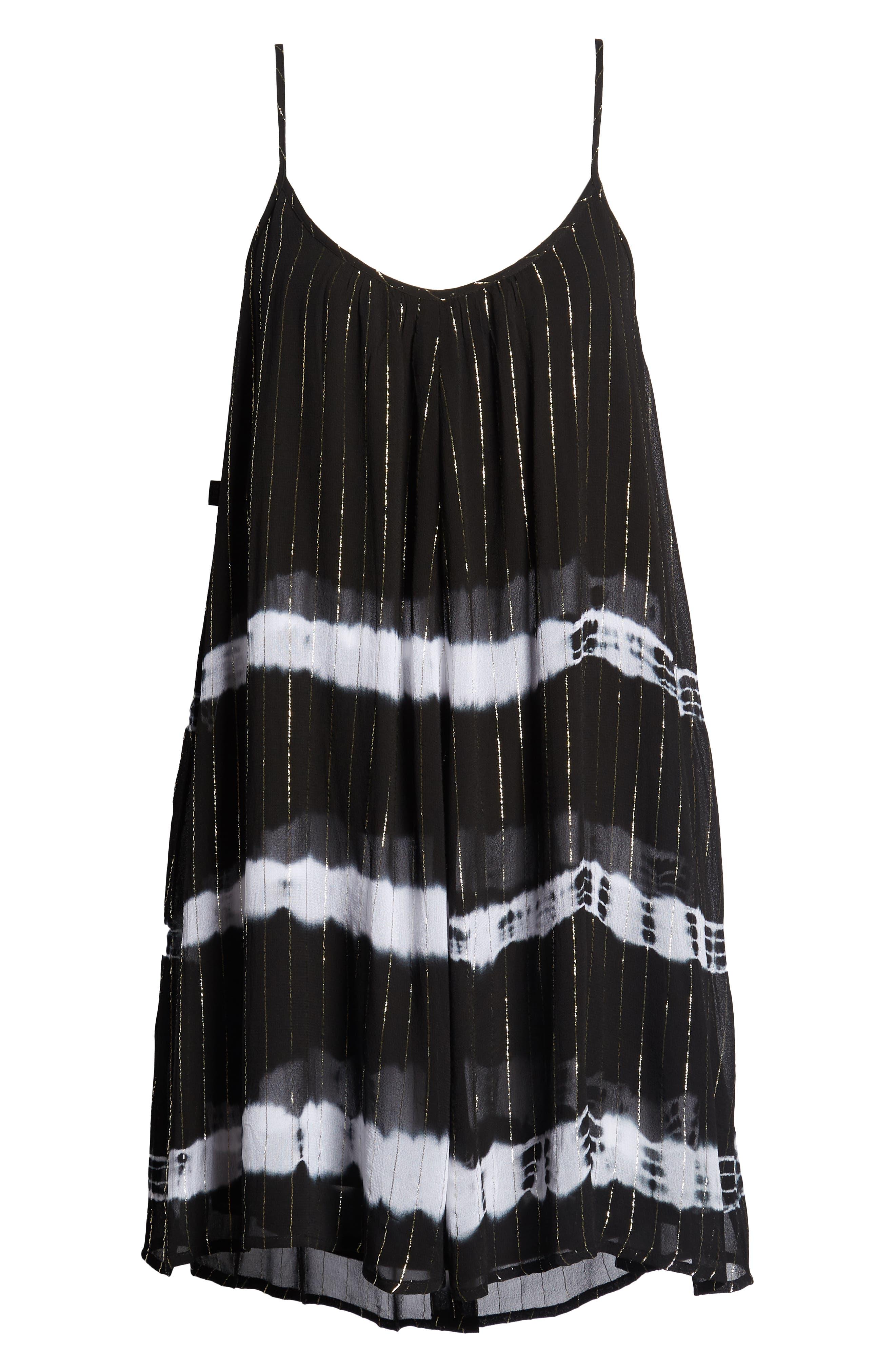 Dos Ojos Tie Dye Cover Up Dress,                             Alternate thumbnail 7, color,                             Black Multi