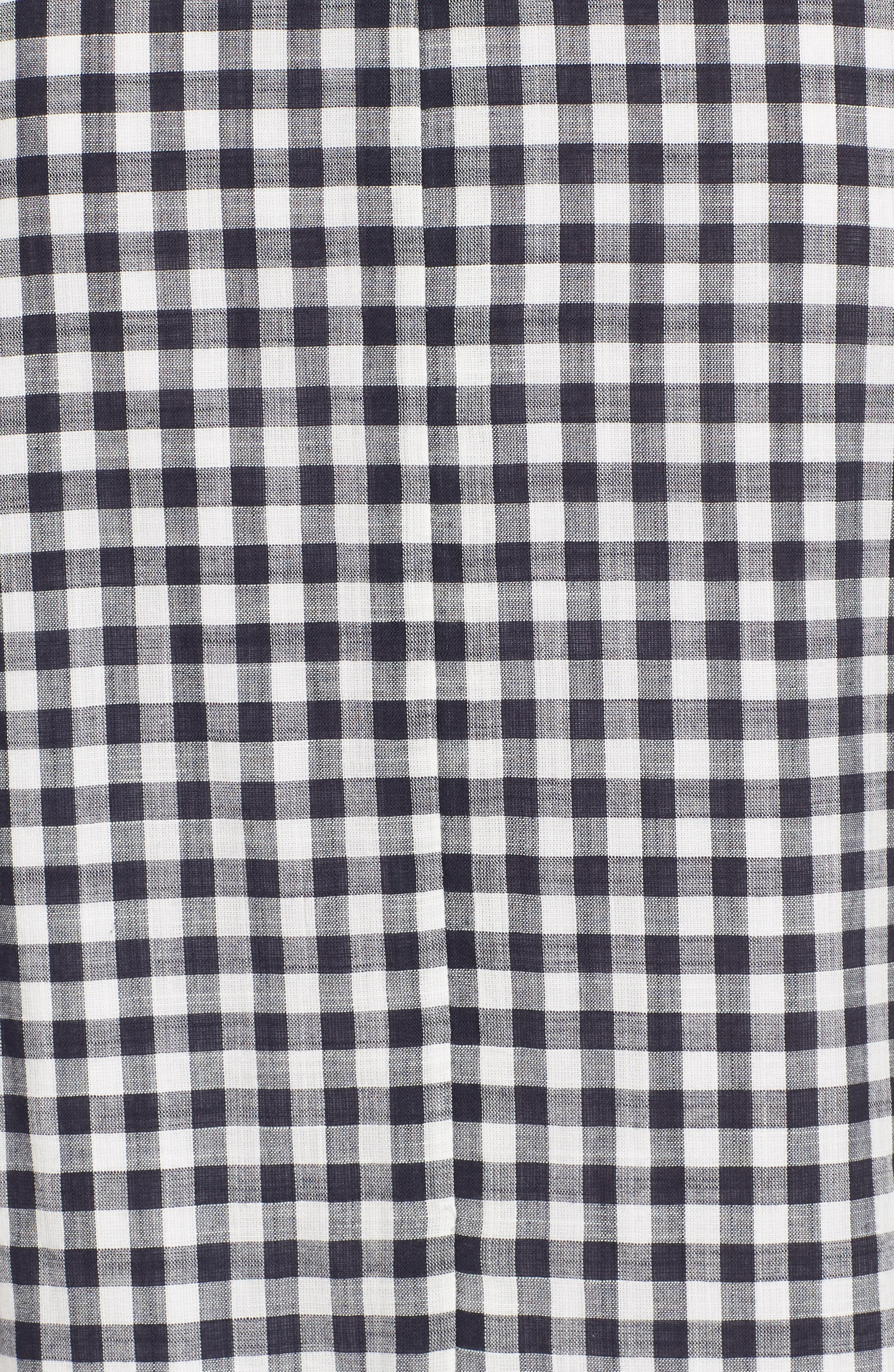 Ruffle Gingham Shift,                             Alternate thumbnail 6, color,                             Deep Indigo