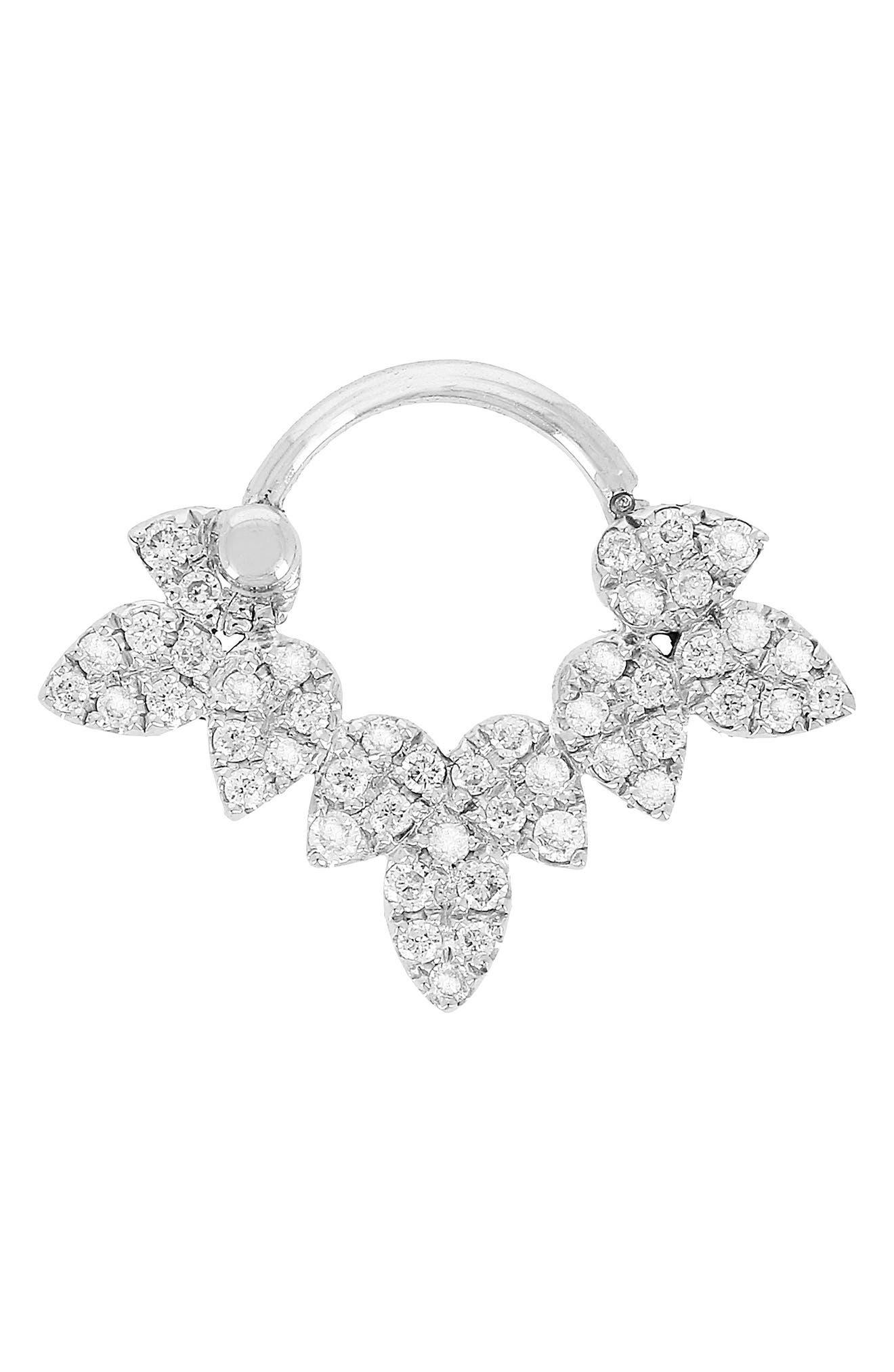 Yvonne Léon Drip Bar Diamond Stud Earring