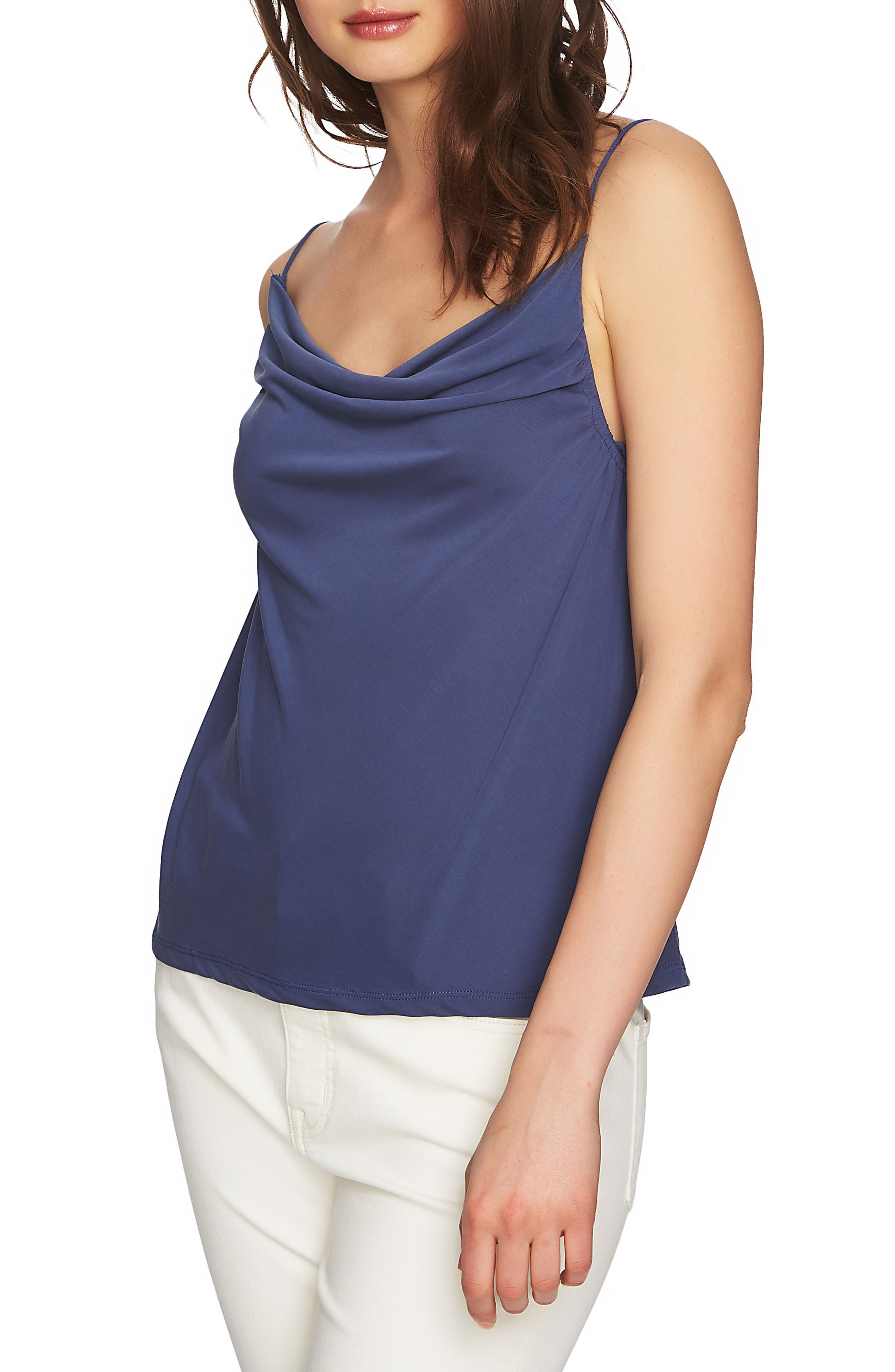 Cowl Neck Camisole,                             Alternate thumbnail 3, color,                             Moon Shade