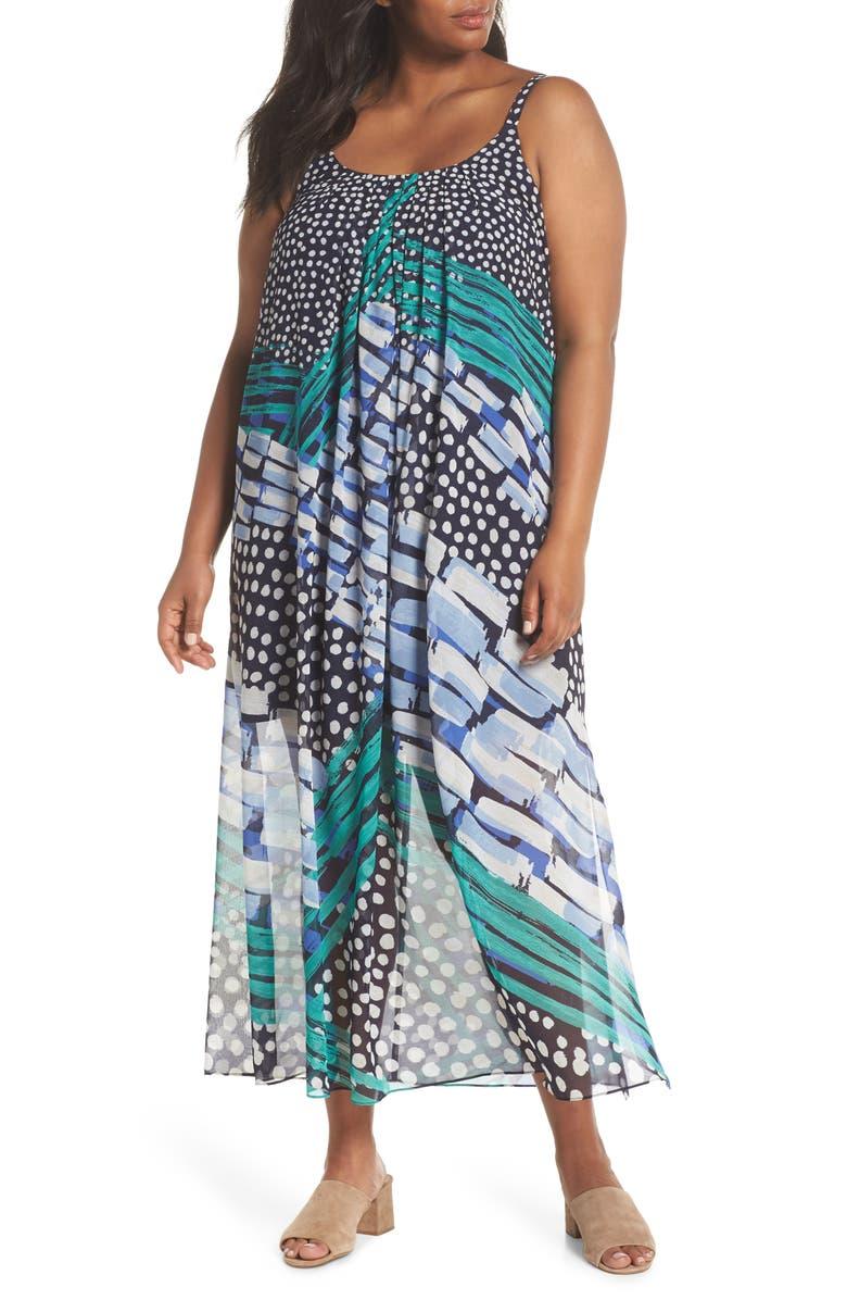 Bloom Me Away Print Maxi Dress