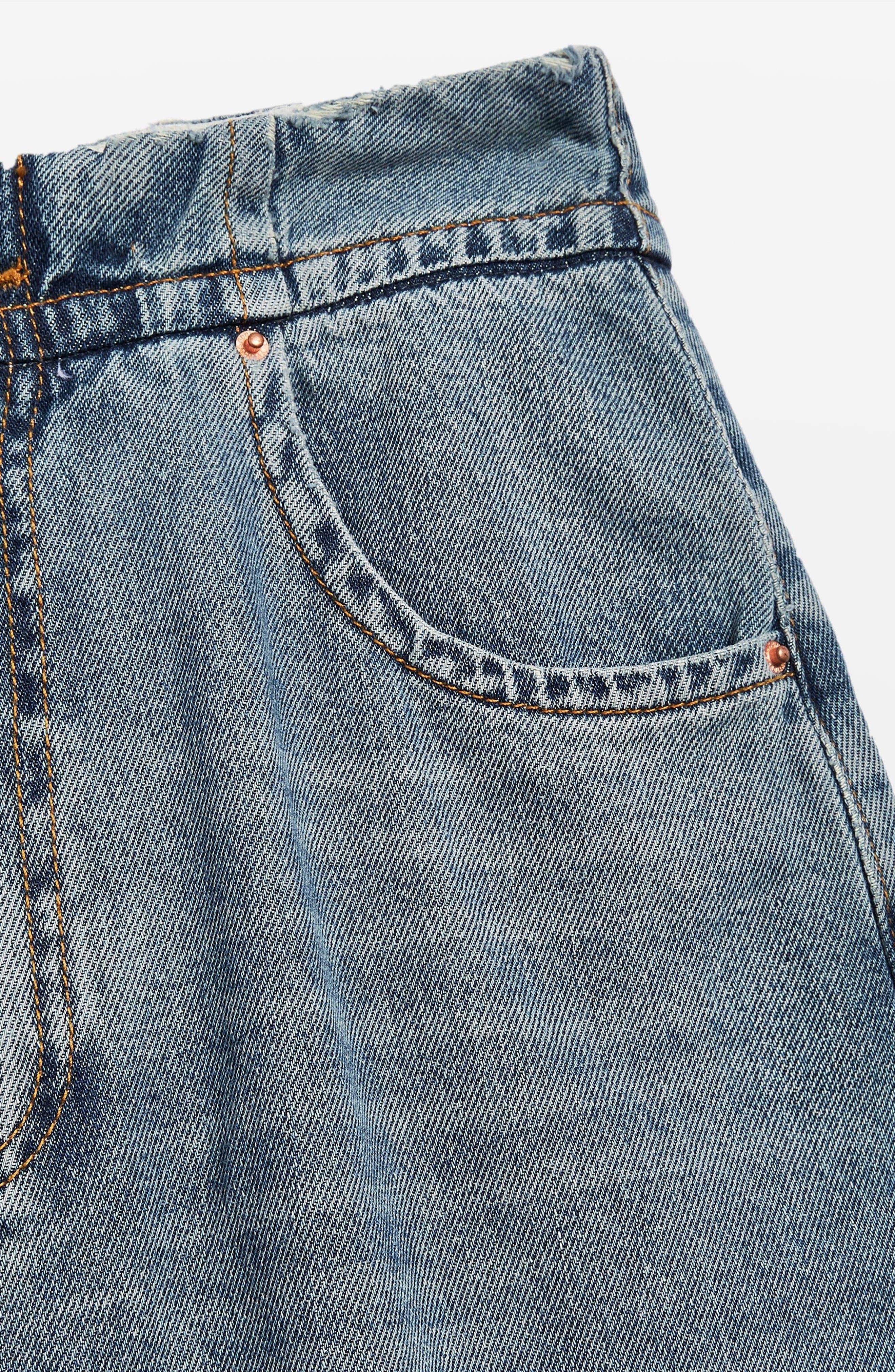 Slouch Cinch Jeans,                             Alternate thumbnail 5, color,                             Blue