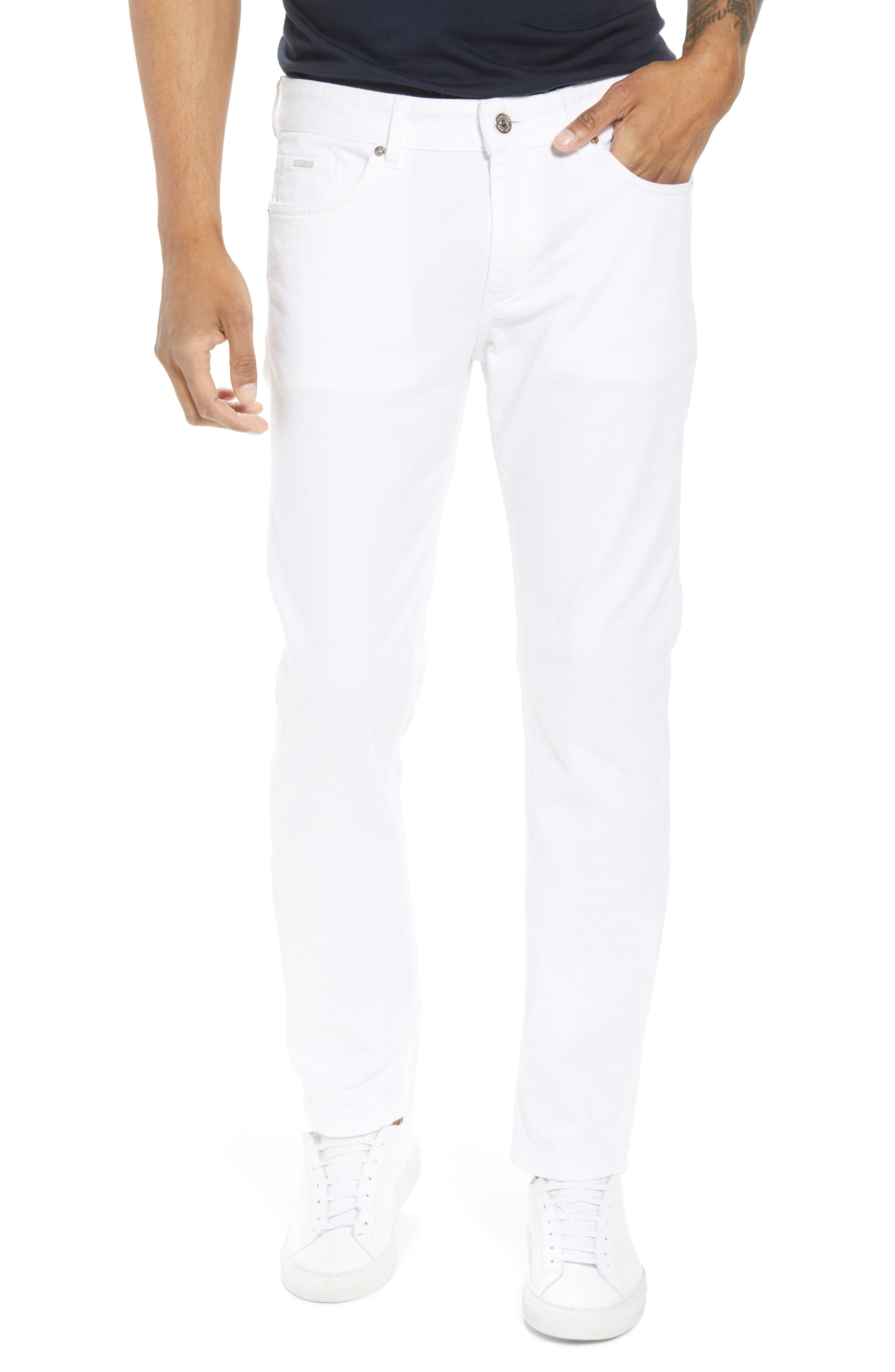 Delaware Slim Fit Jeans,                         Main,                         color, White