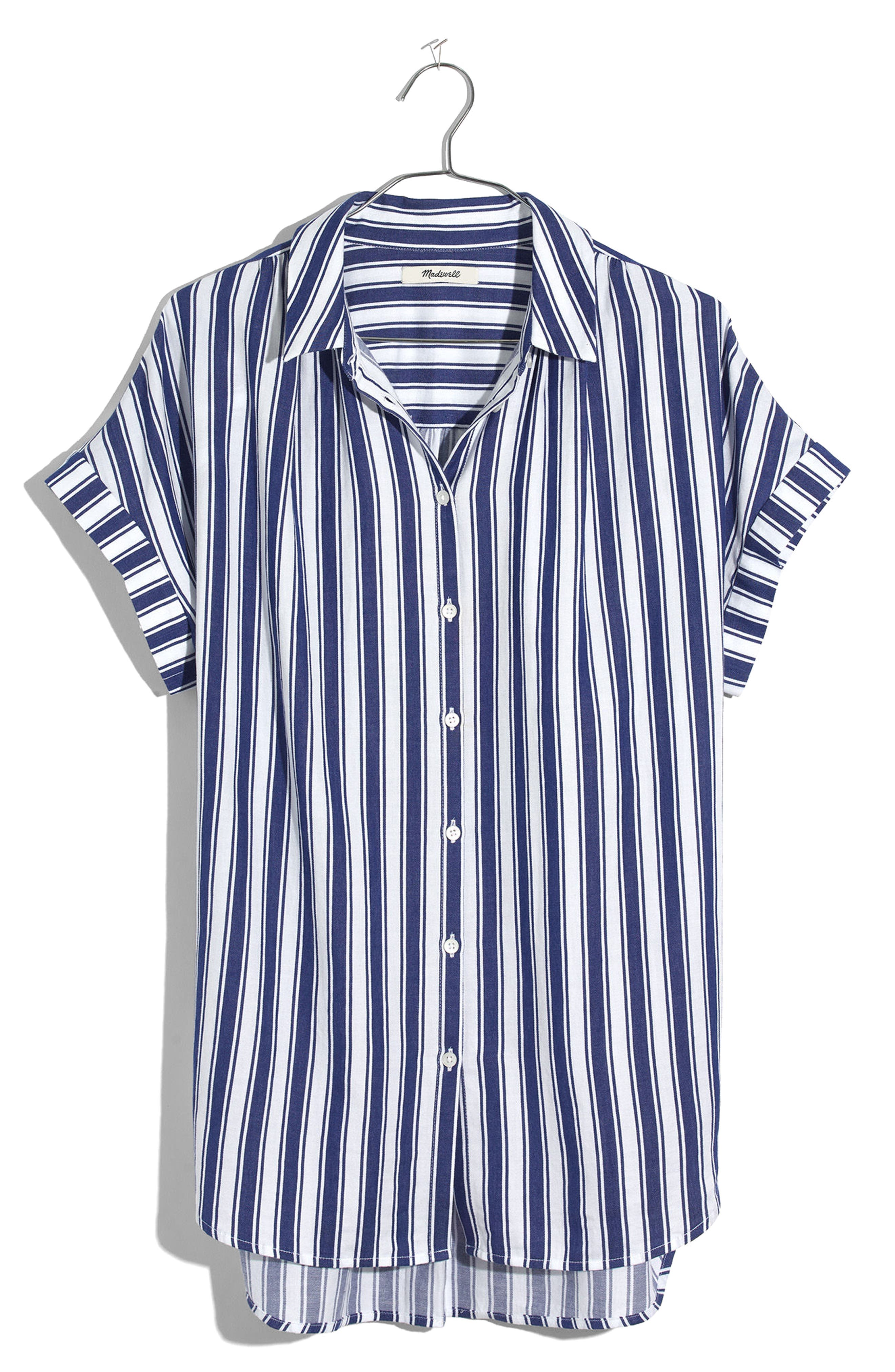 Stripe Central Shirt,                         Main,                         color, Oxford Blue