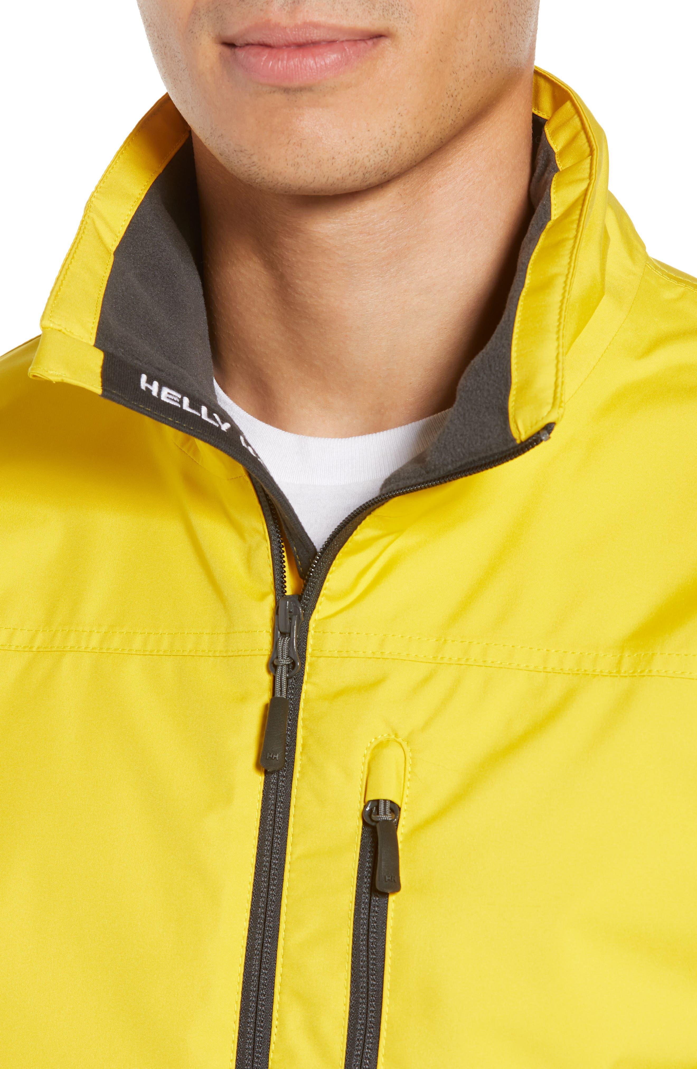 'Crew' Waterproof & Windproof Jacket,                             Alternate thumbnail 4, color,                             Sulphur