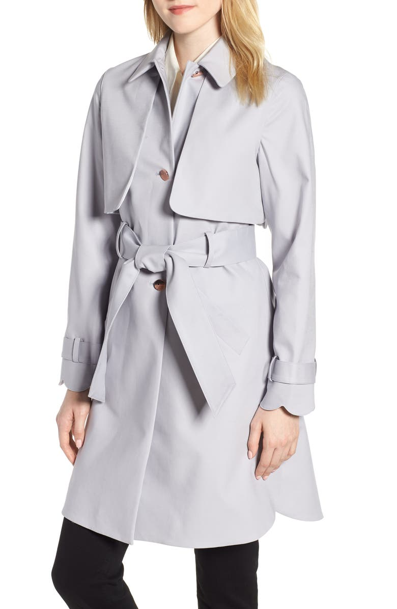 Scallop Detail Trench Coat