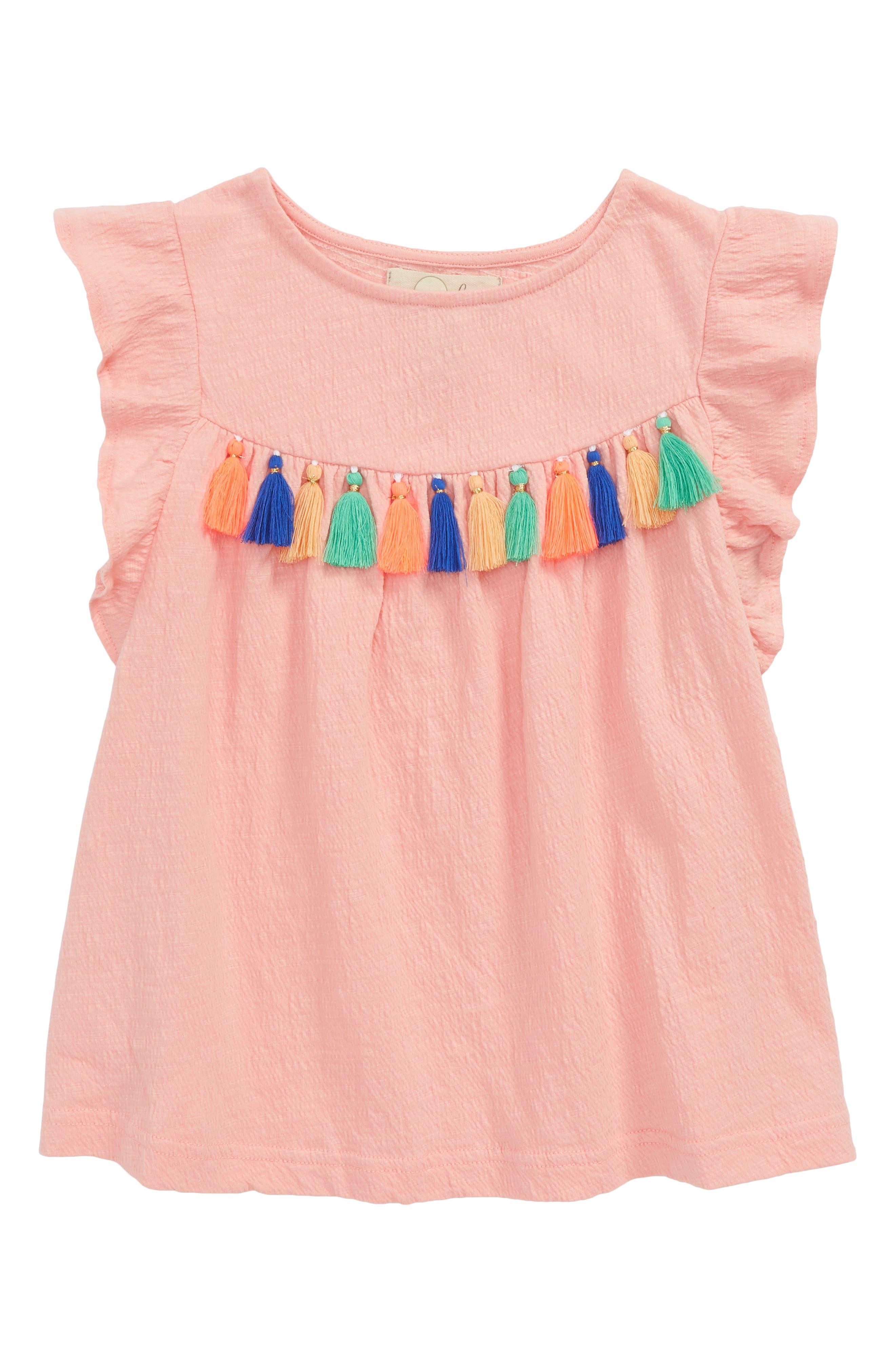 Peek Mila Tassel Tee (Toddler Girls, Little Girls & Big Girls)