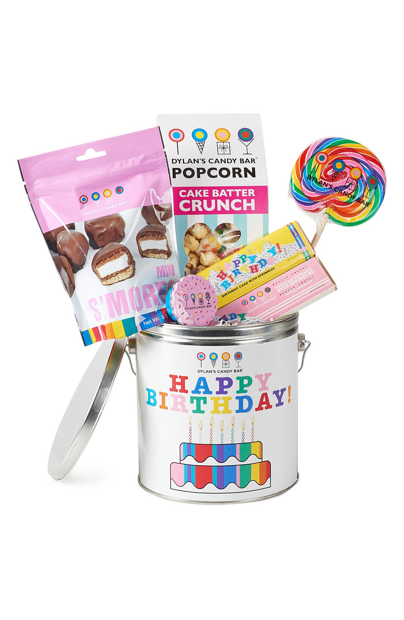 Happy Birthday Bucket,                             Main thumbnail 1, color,                             White