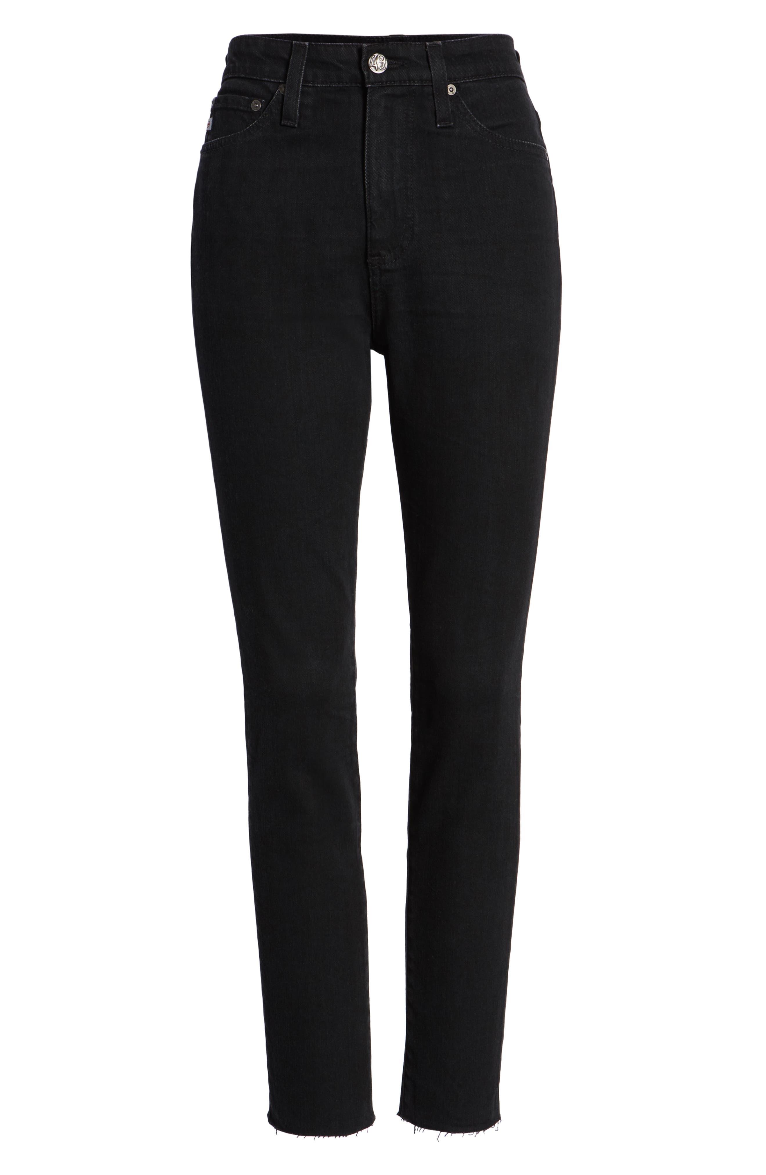 Sophia High Waist Ankle Skinny Jeans,                             Alternate thumbnail 7, color,                             1 Year Black Hawk
