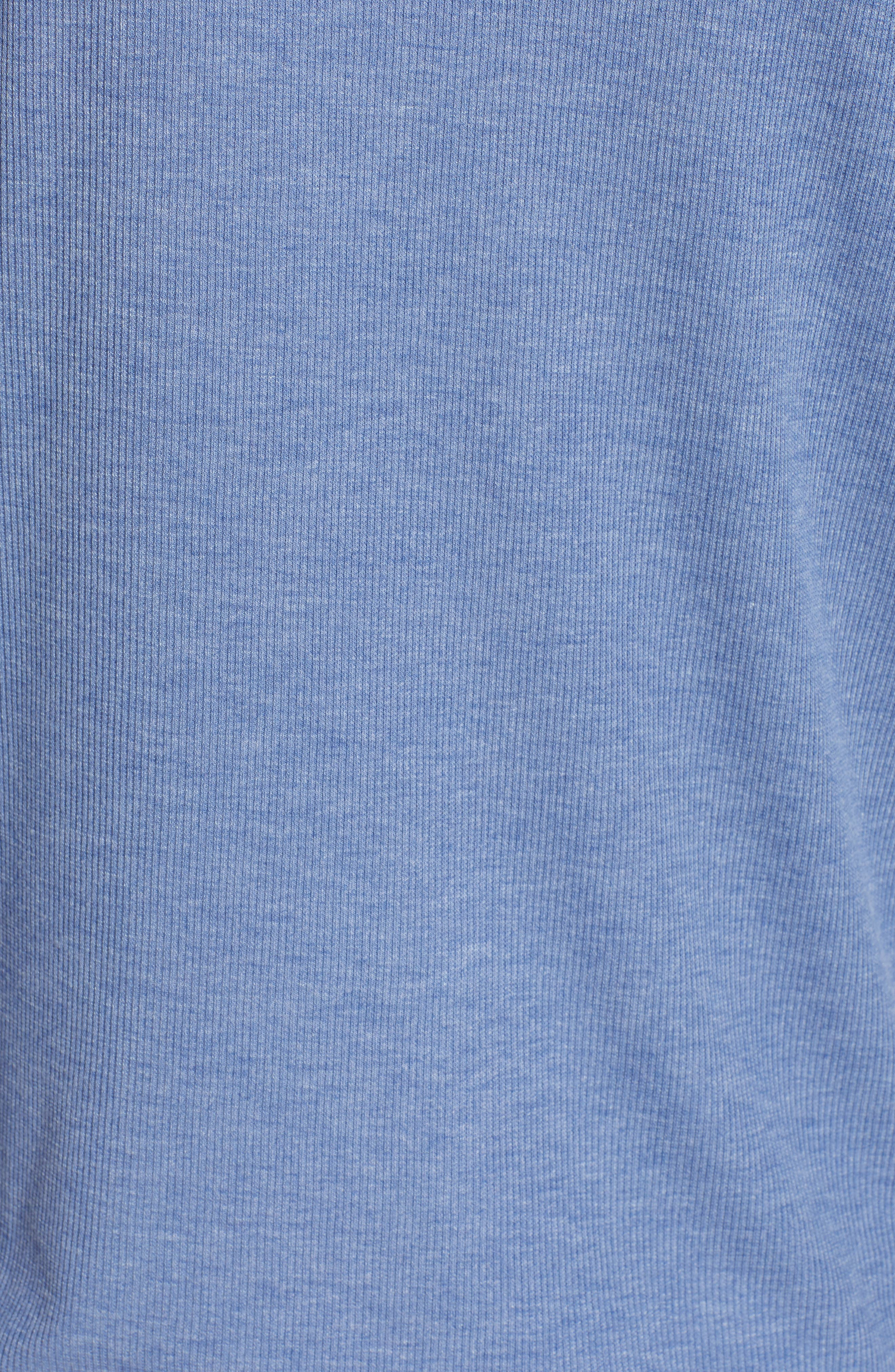 Campbell Los Angeles Dodgers Rib Knit Hooded Top,                             Alternate thumbnail 6, color,                             Bleacher Blue
