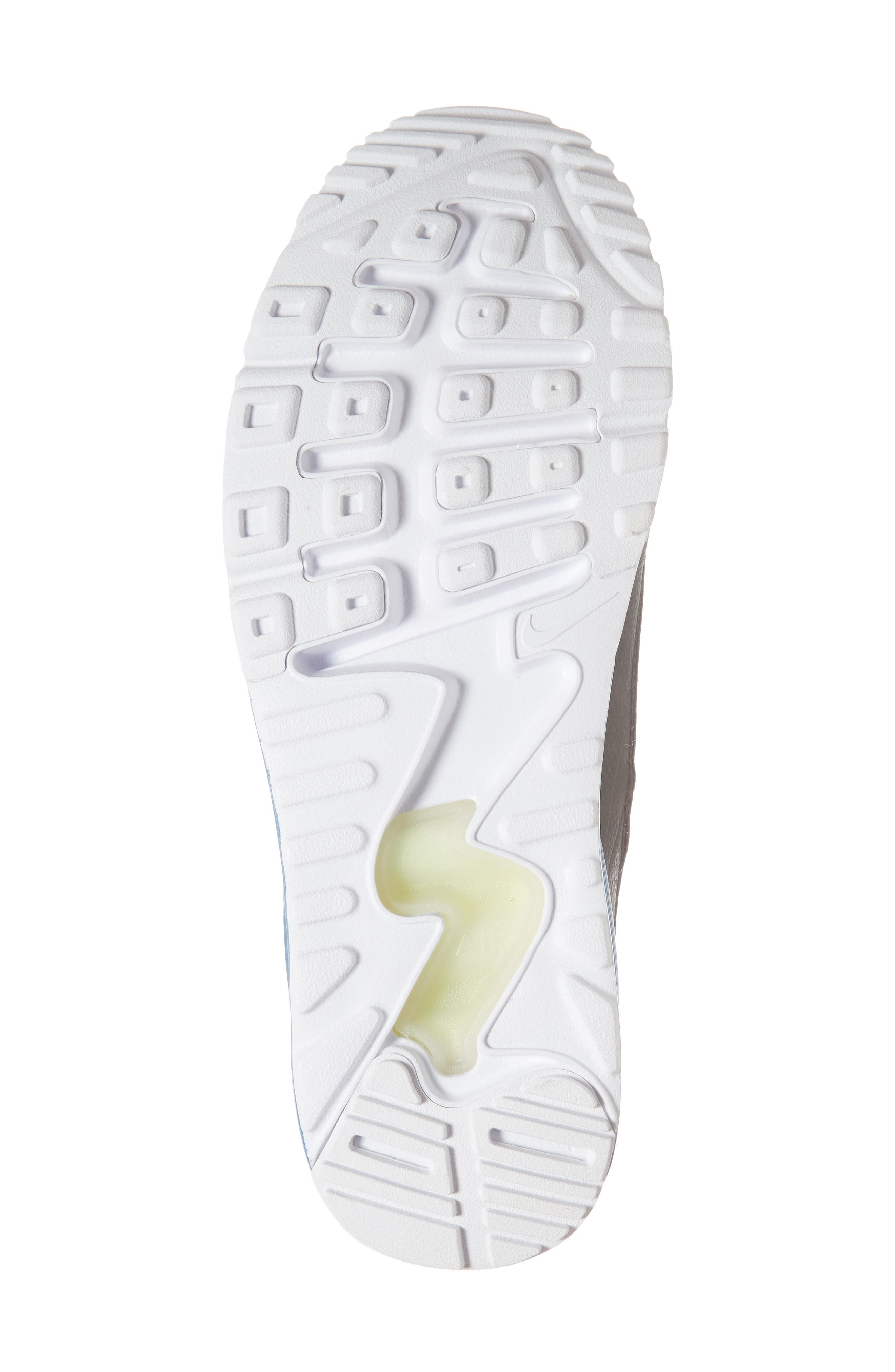 Air Max 90 EZ Sneaker,                             Alternate thumbnail 6, color,                             White/ Black/ Blue Nebula