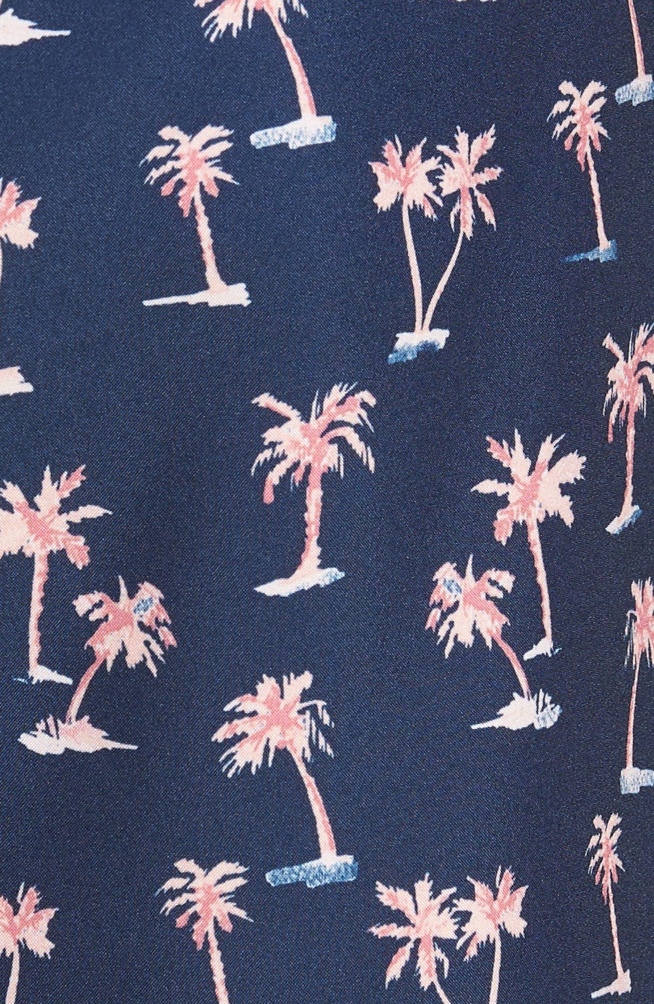 Banzai 9-Inch Swim Trunks,                             Alternate thumbnail 5, color,                             Dreamy Palms Print
