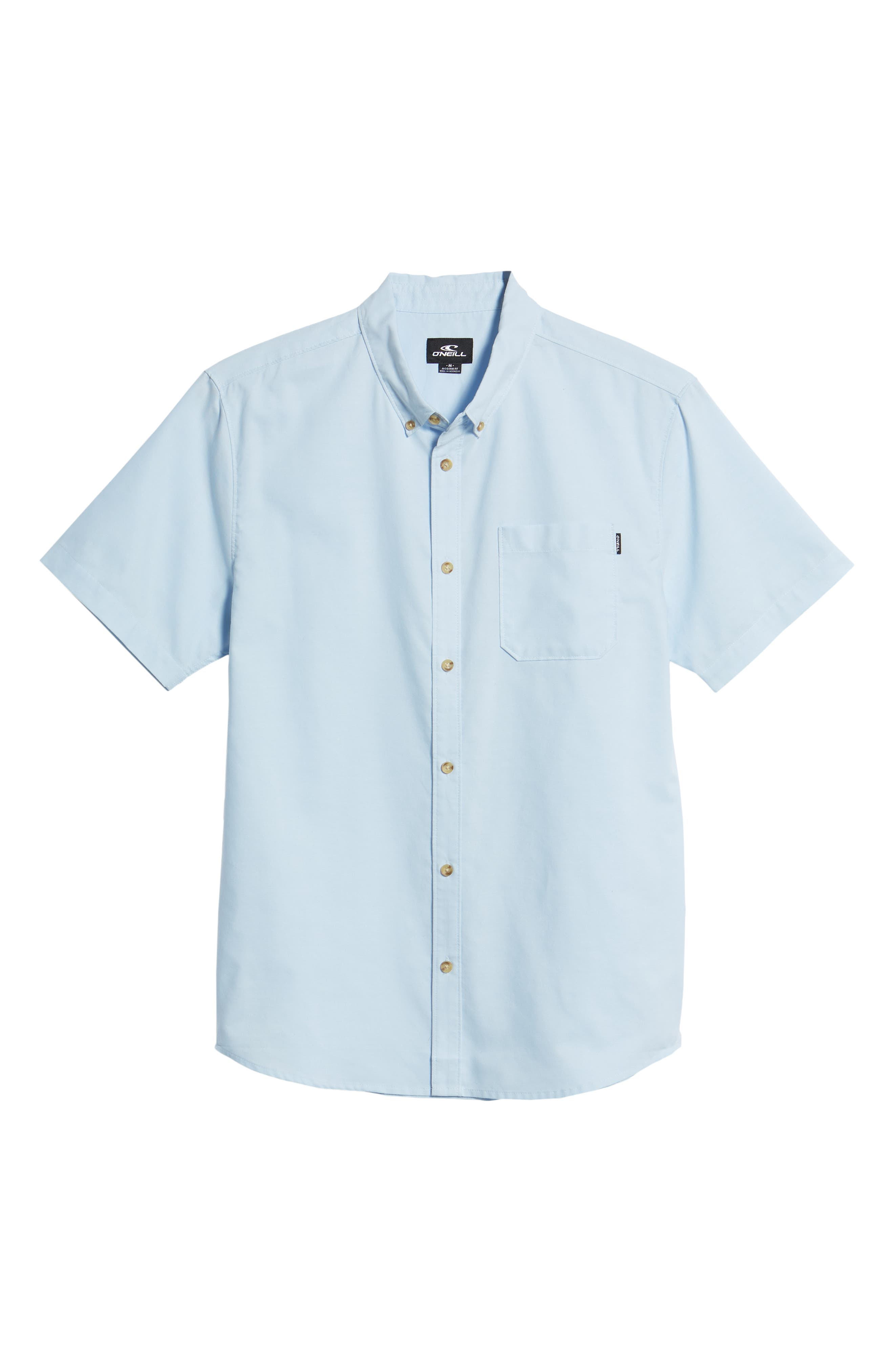Banks Woven Shirt,                             Alternate thumbnail 6, color,                             Light Blue