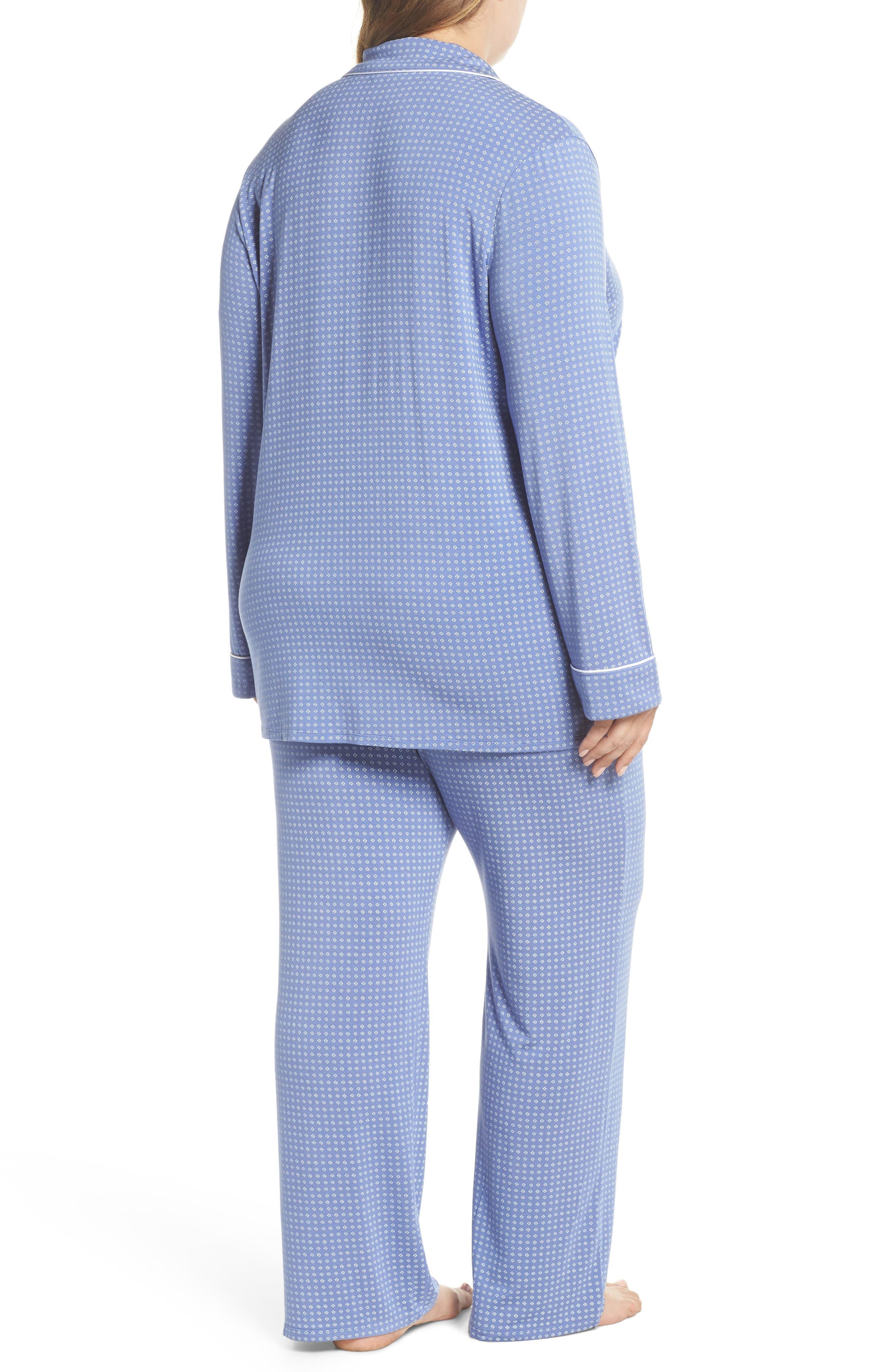 'Moonlight' Pajamas,                             Alternate thumbnail 2, color,                             Blue Denim Geo