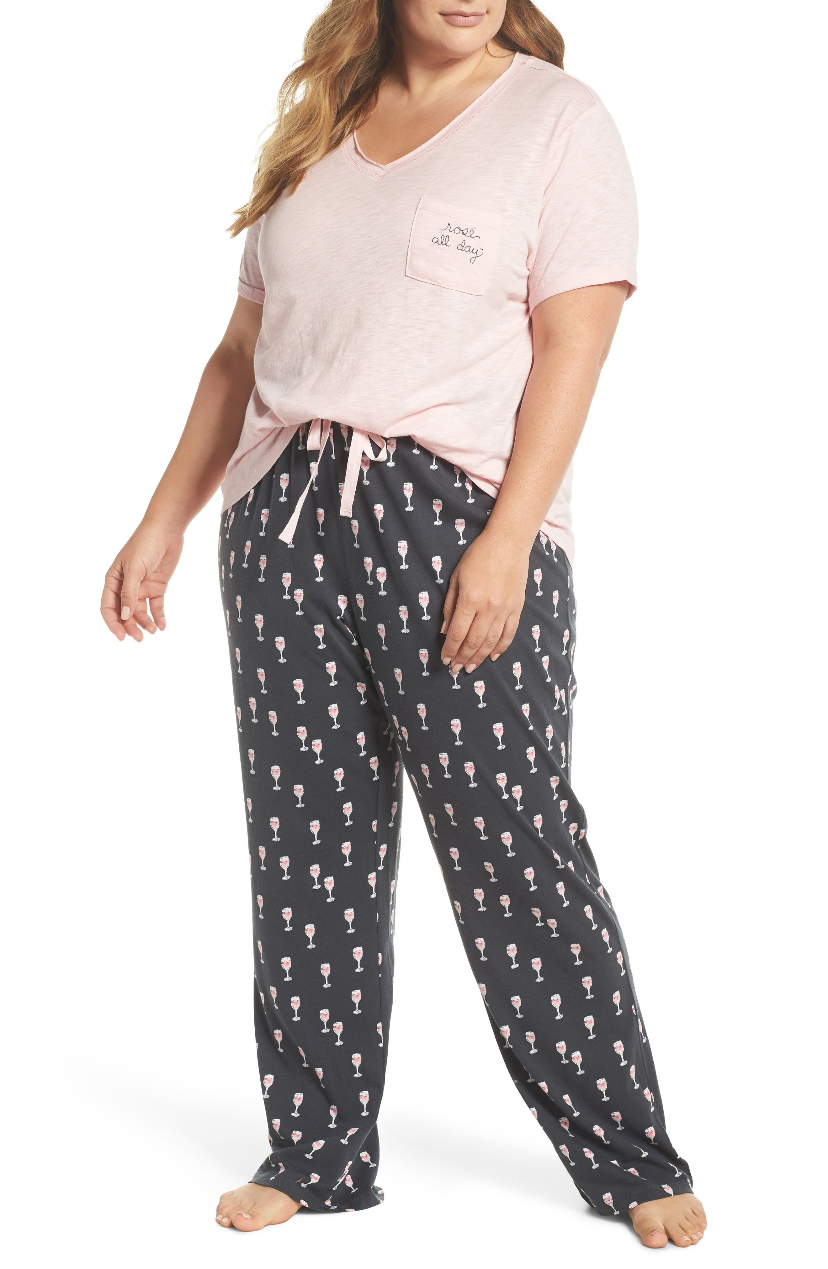 I Heart Sleep Pajamas,                         Main,                         color, Rose