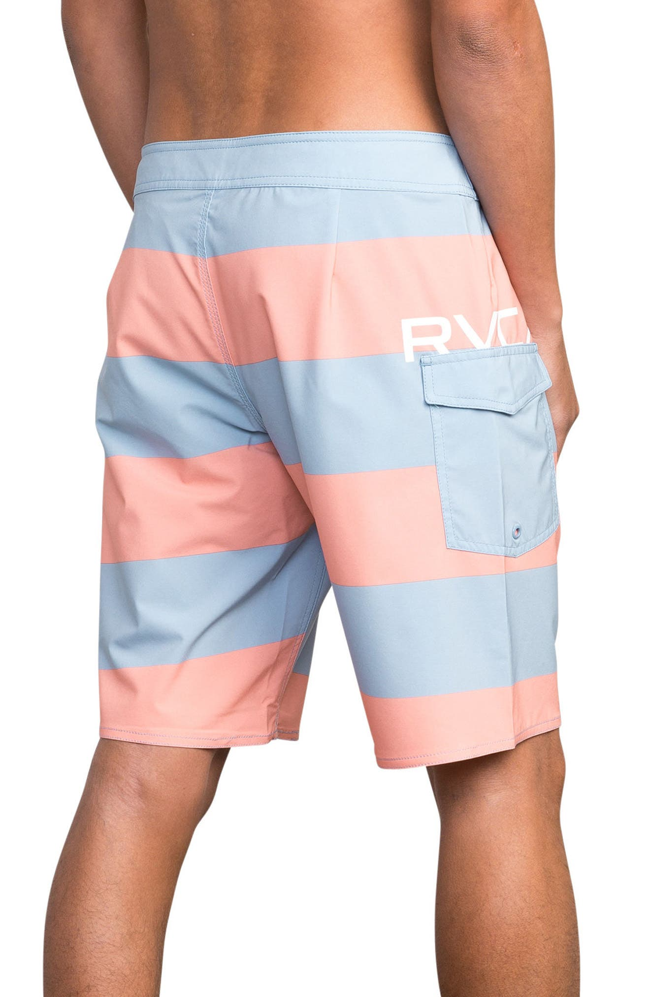 Uncivil Stripe Board Shorts,                             Alternate thumbnail 2, color,                             Terracotta