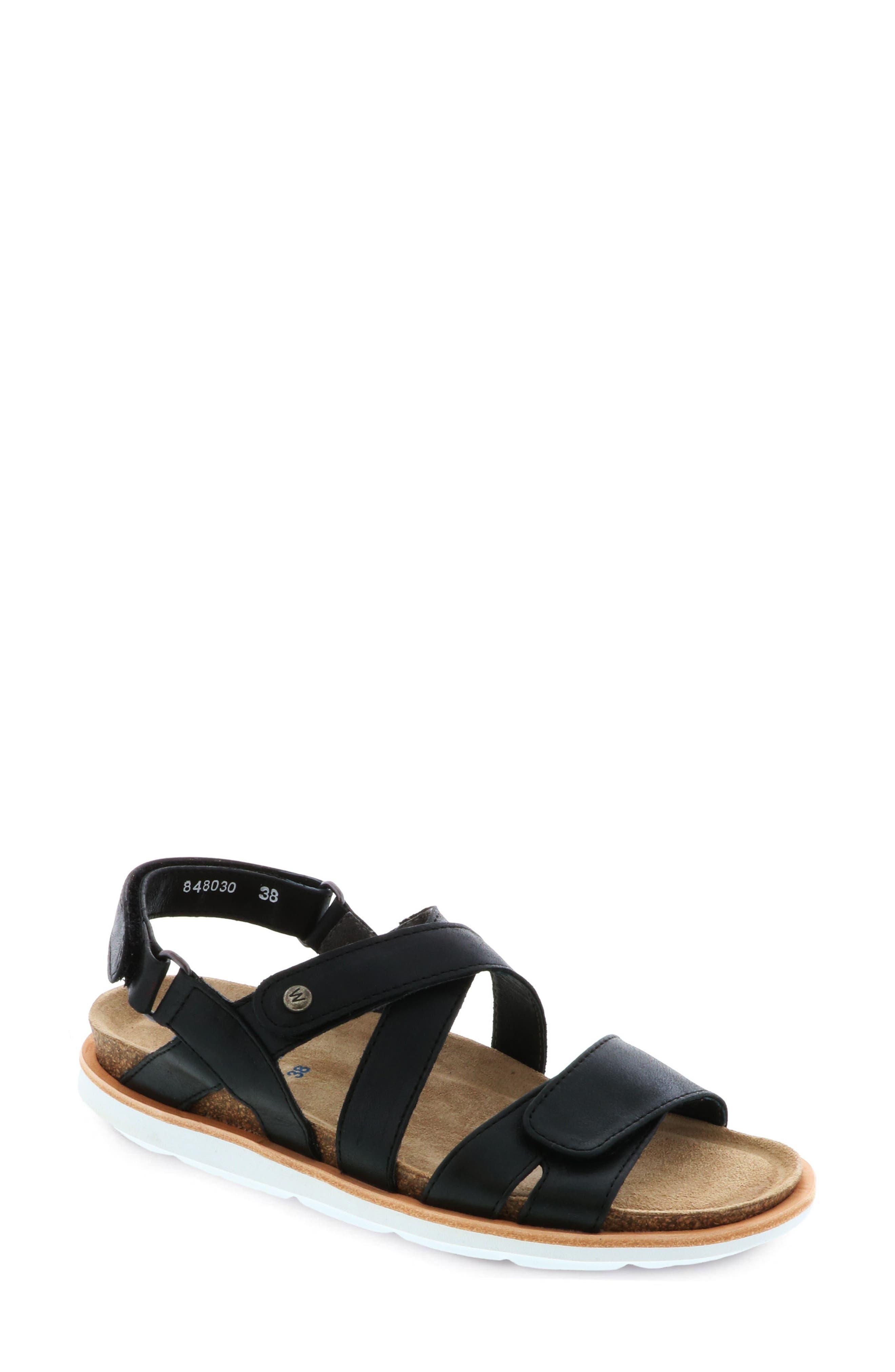 Sunstone Sandal,                             Main thumbnail 1, color,                             Black Summer