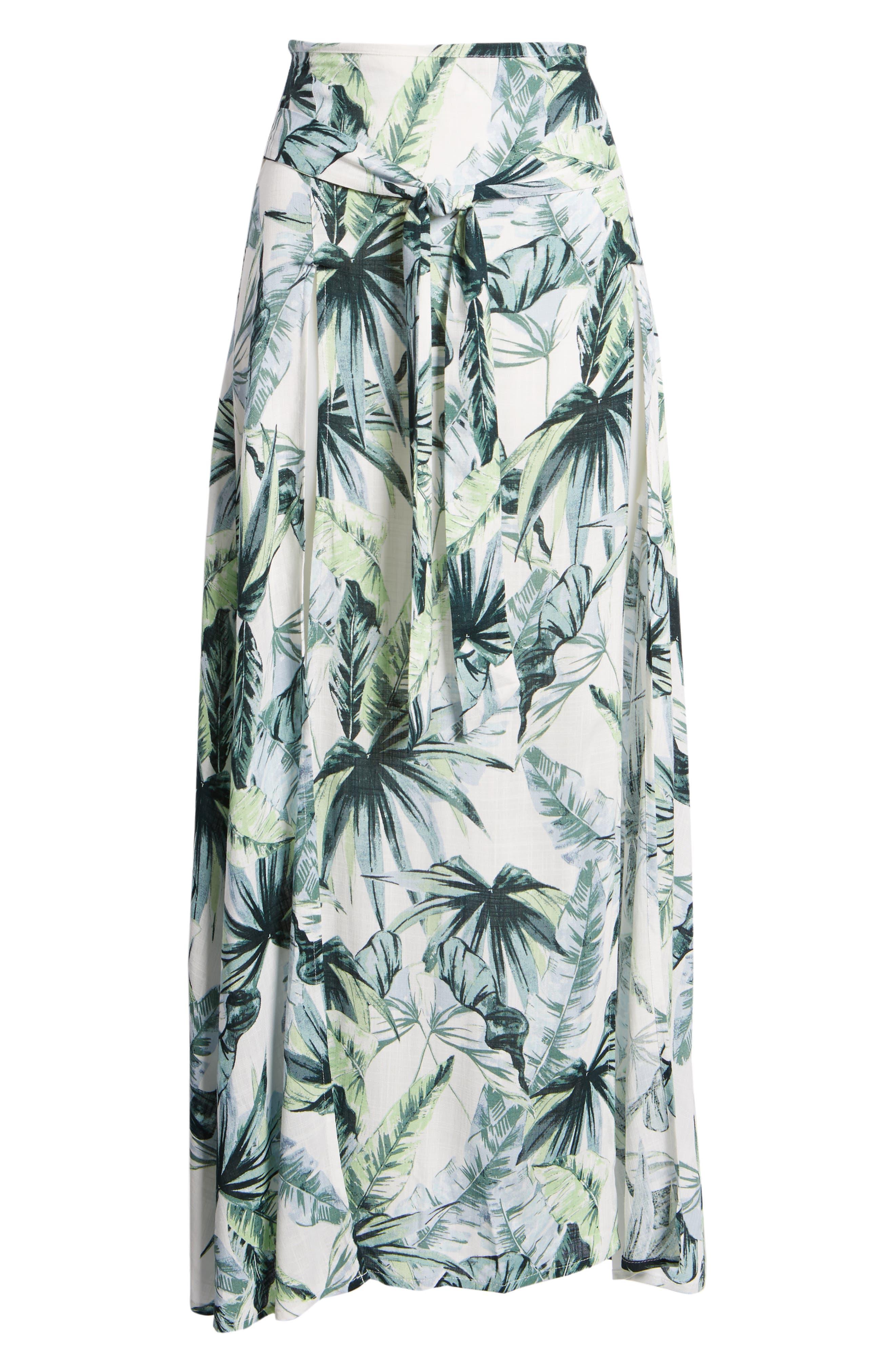 Palm Fringe Skirt,                             Alternate thumbnail 7, color,                             Multi