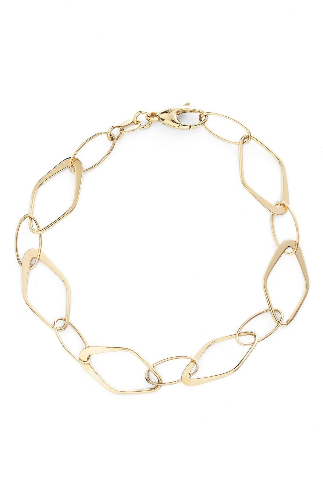 Link Bracelet,                         Main,                         color, Yellow Gold