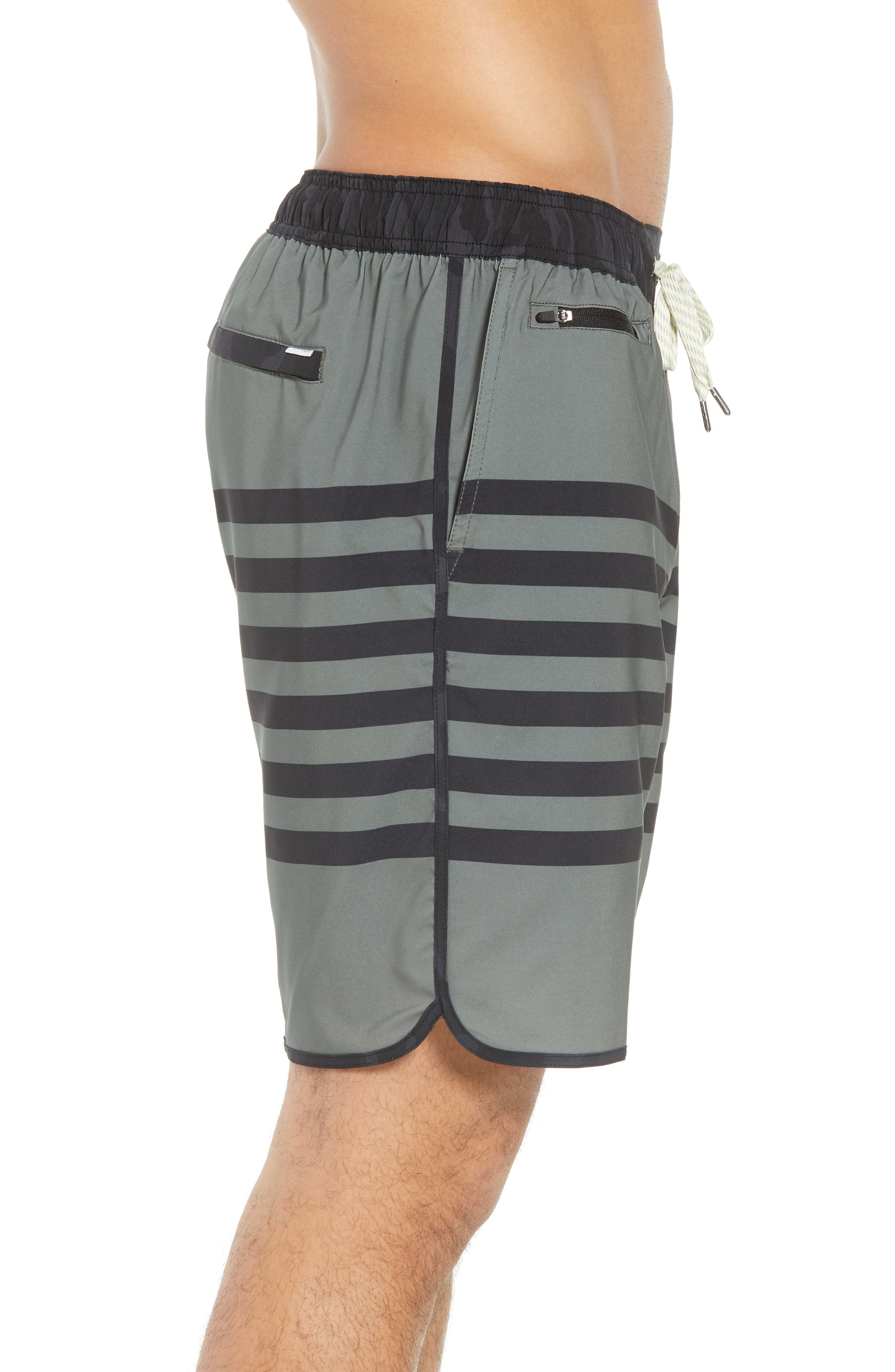 Banks Shorts,                             Alternate thumbnail 3, color,                             Army Stripe