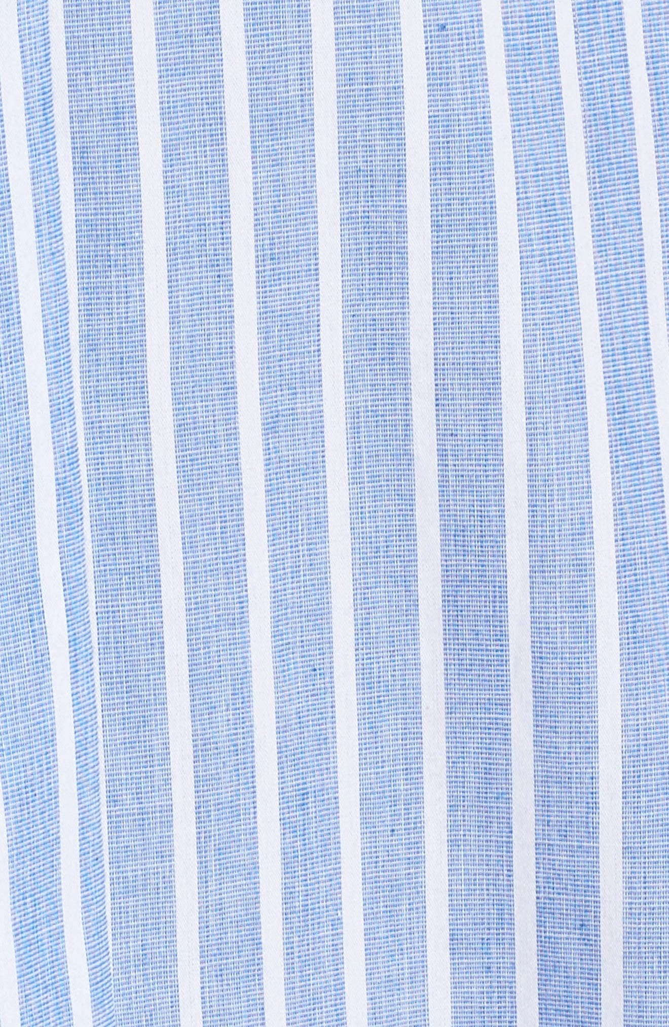 Stripe Shirtdress,                             Alternate thumbnail 6, color,                             Blue/ White