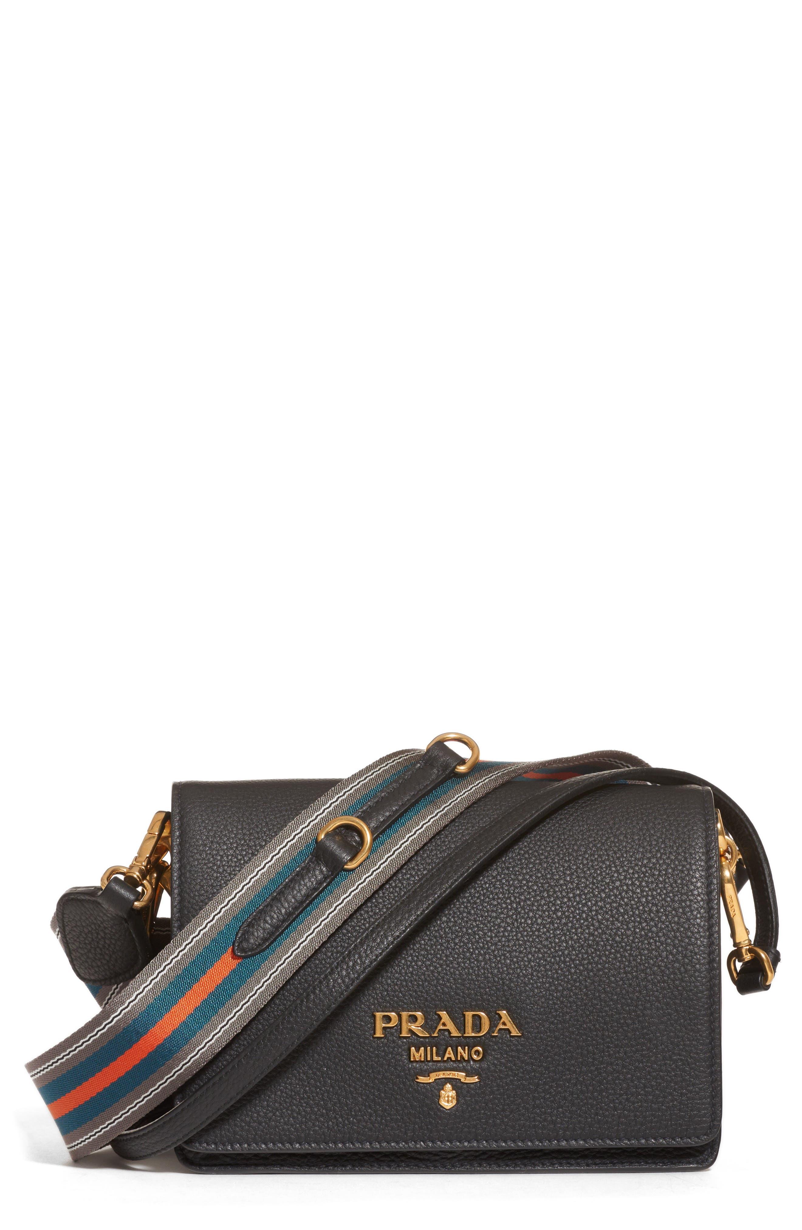 81ace0bbdba05 ... cheapest prada vitello daino double compartment leather shoulder bag  c1745 50f65