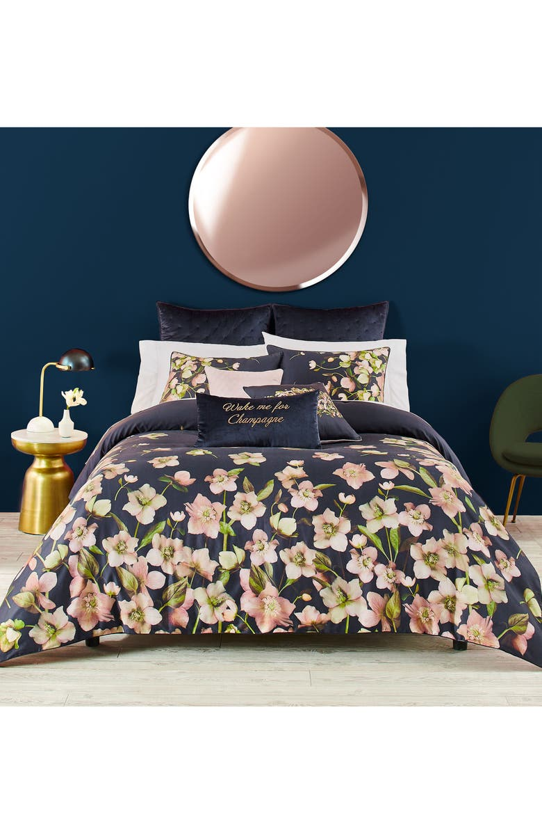 Arboretum Duvet Cover & Sham Set,                         Main,                         color, Navy