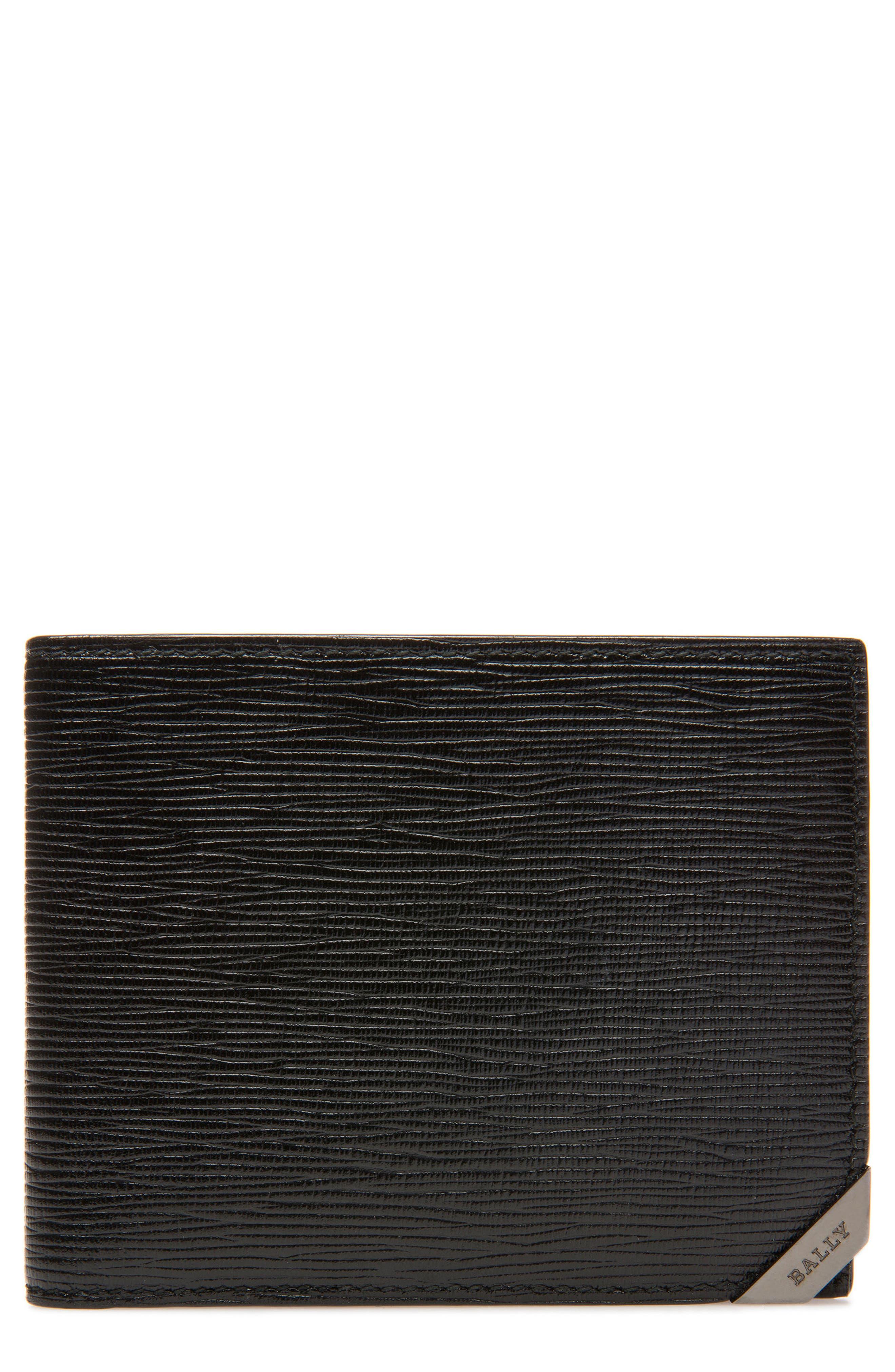 Bevye Leather Wallet,                             Main thumbnail 1, color,                             Black