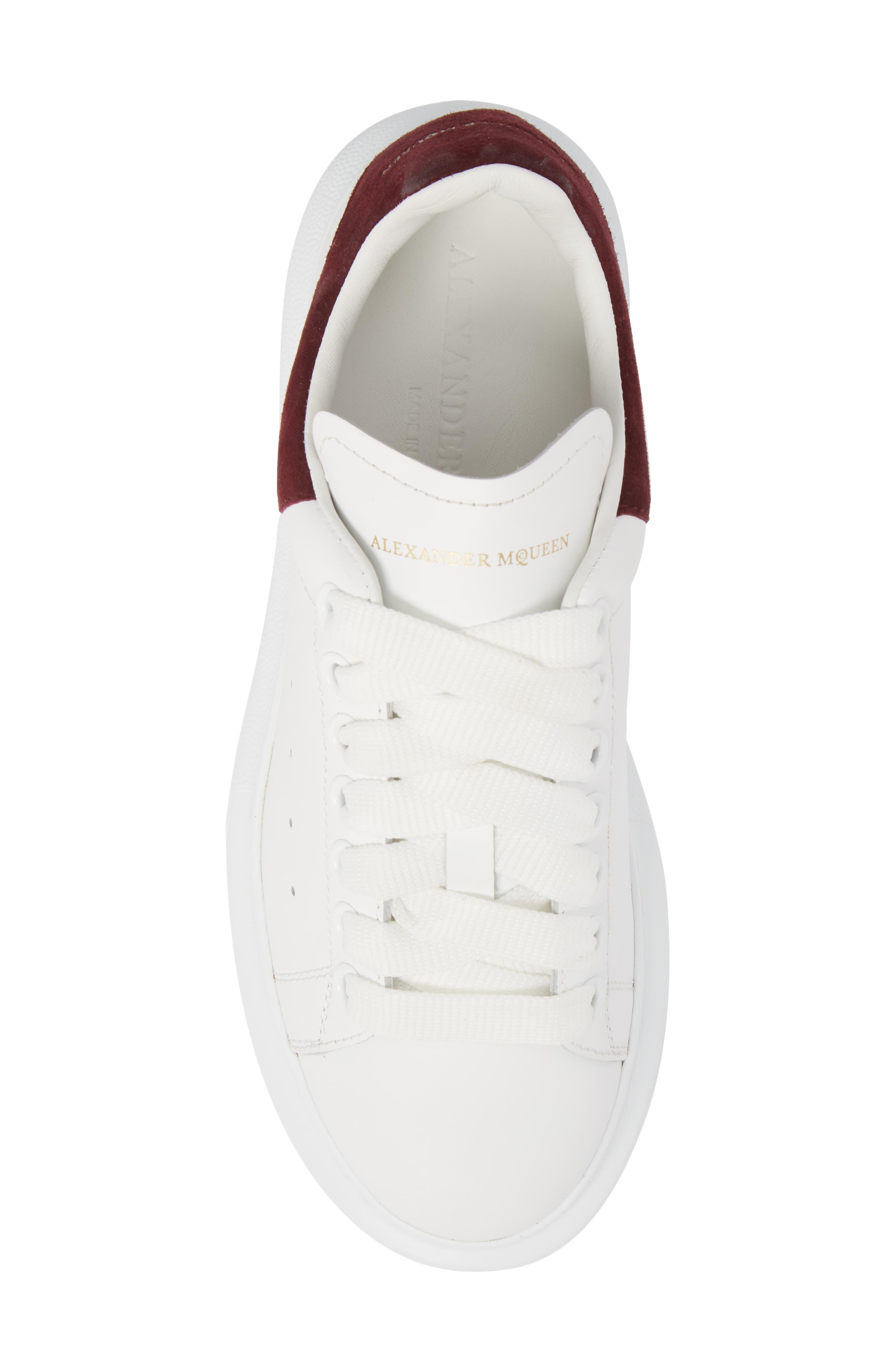 Sneaker,                             Alternate thumbnail 5, color,                             White/ Burgundy