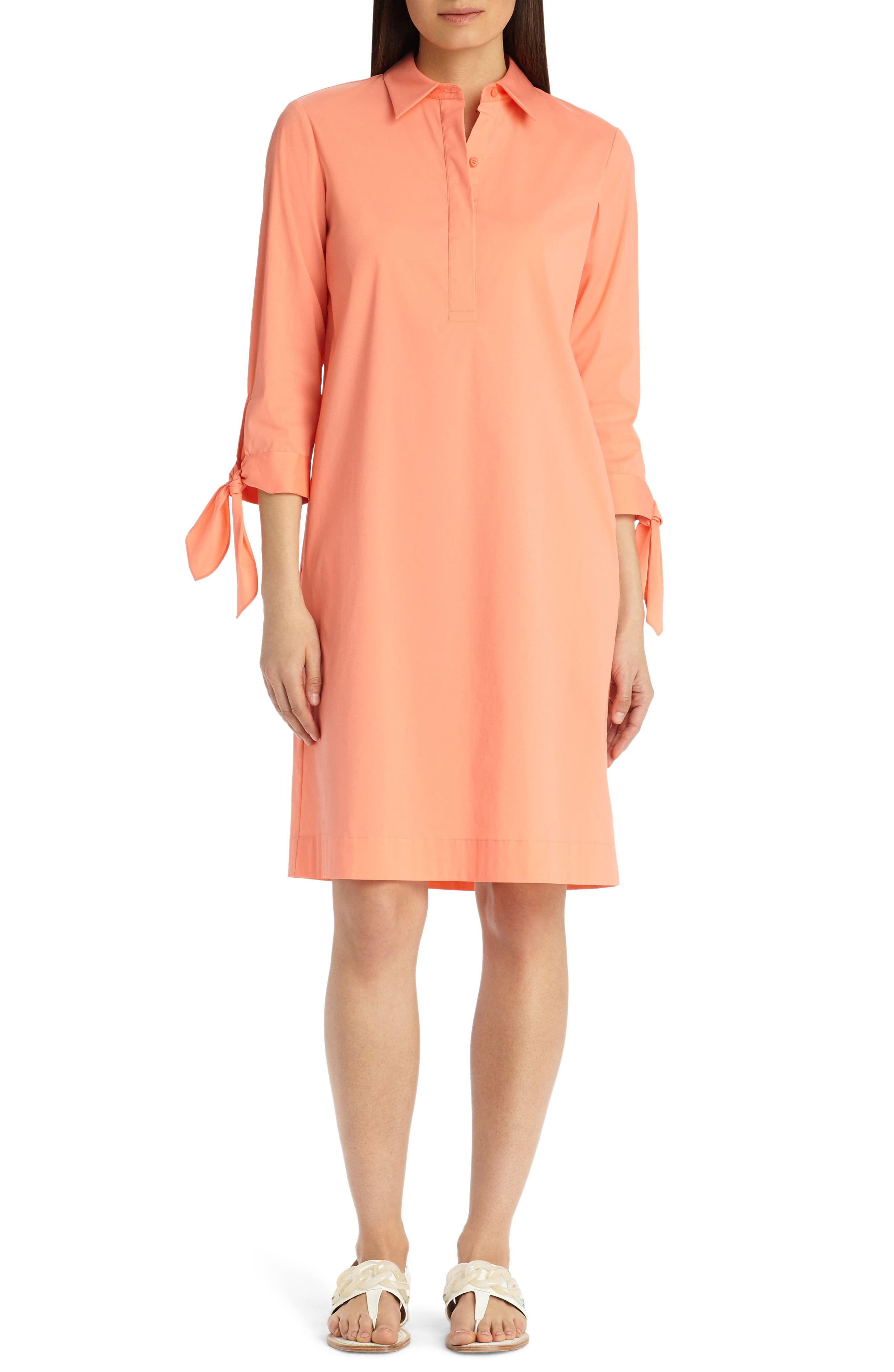 Lafayette 148 New York Talia Stretch Cotton Blend Dress
