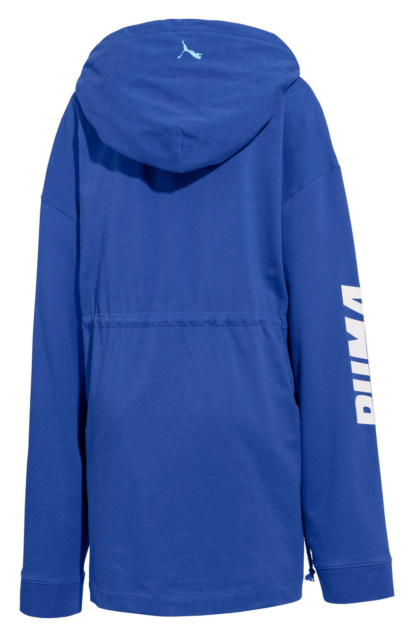PUMA by Rihanna Gathered Hoodie,                             Alternate thumbnail 2, color,                             Dazzling Blue