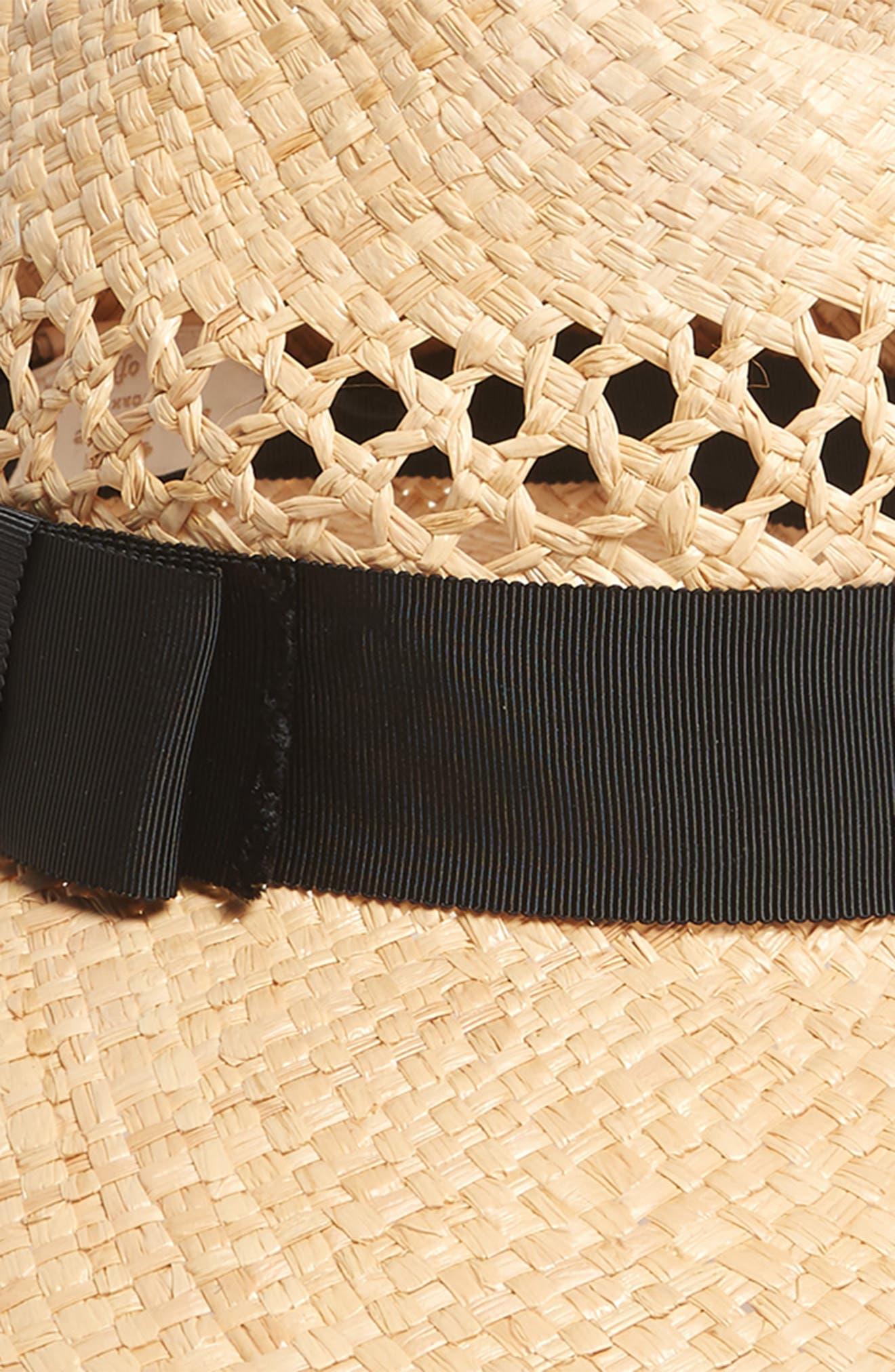 wide brim straw fedora,                             Alternate thumbnail 2, color,                             Natural