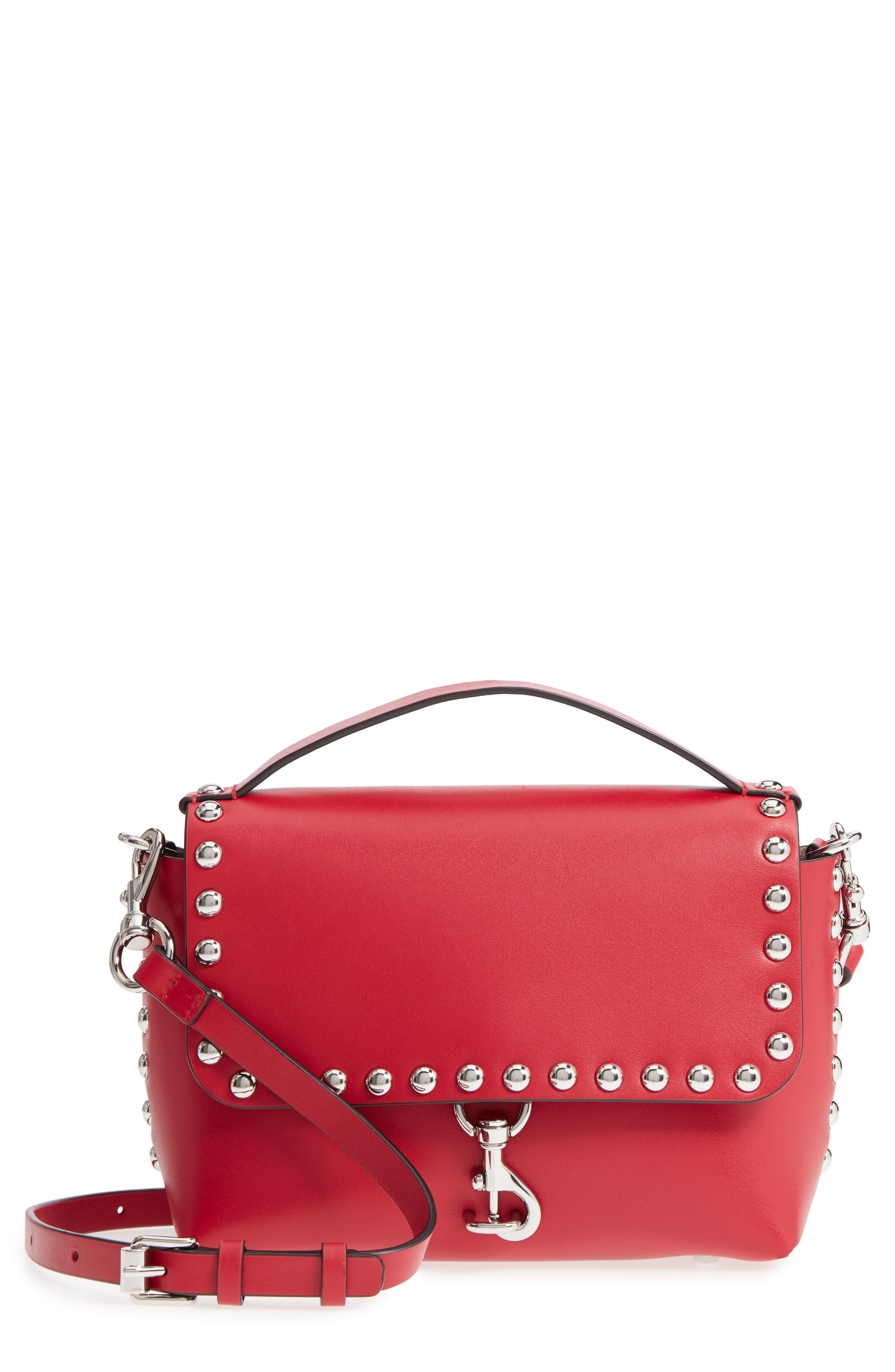 Rebecca Minkoff Blythe Medium Studded Leather Crossbody Bag