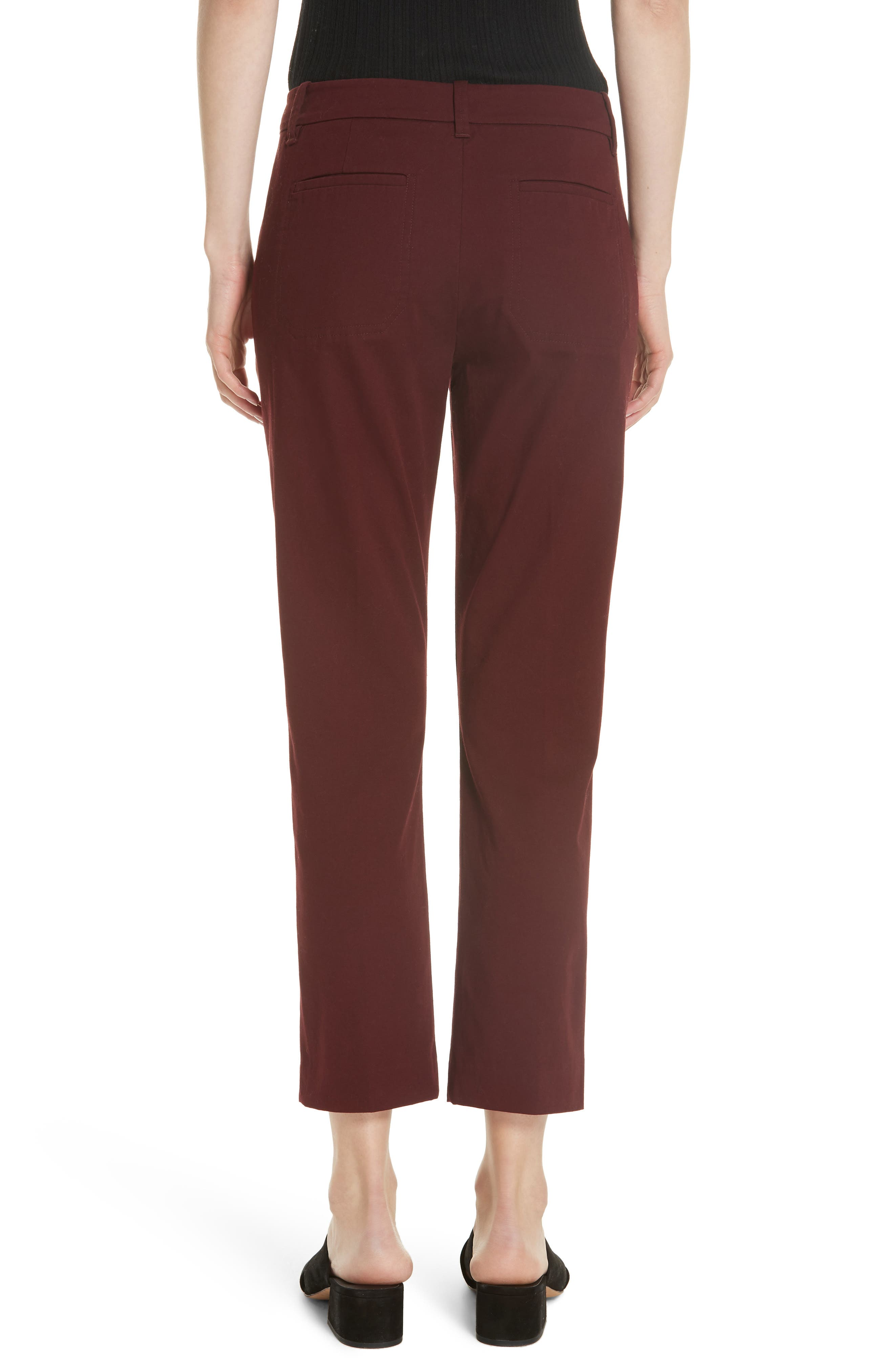 Coin Pocket Chino Pants,                             Alternate thumbnail 2, color,                             Black Cherry