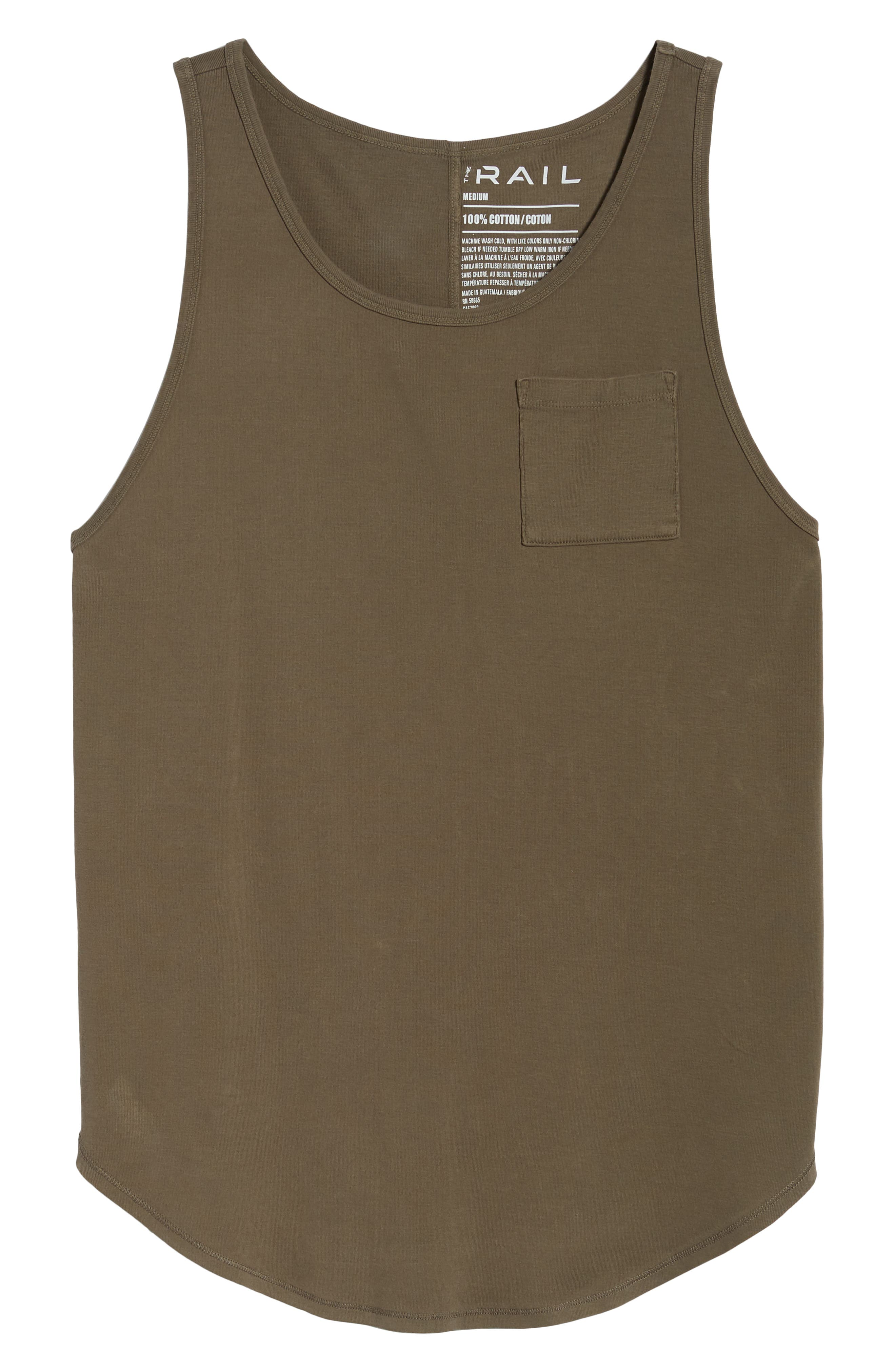 Longline Tank,                             Alternate thumbnail 6, color,                             Olive Brown