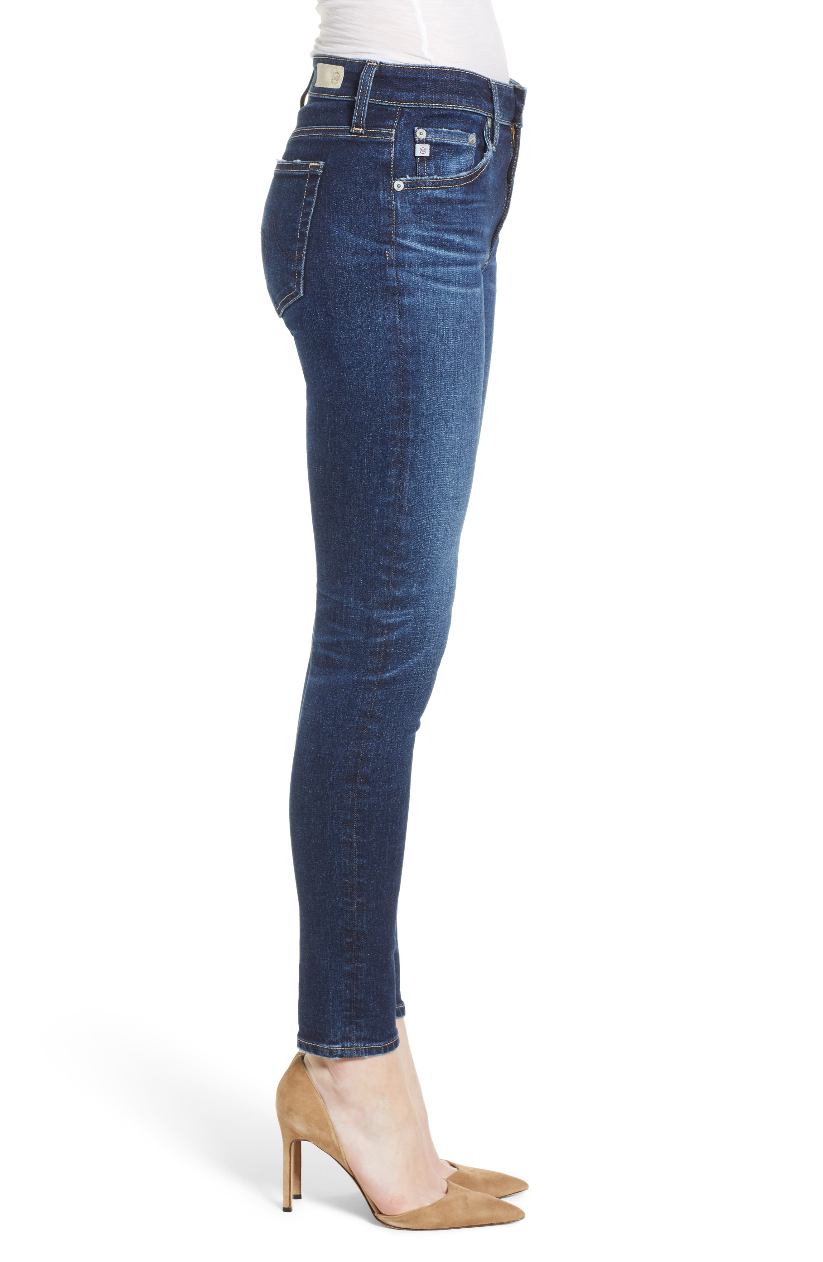 The Farrah Ankle Skinny Jeans,                             Alternate thumbnail 3, color,                             07 Years Astro Azure