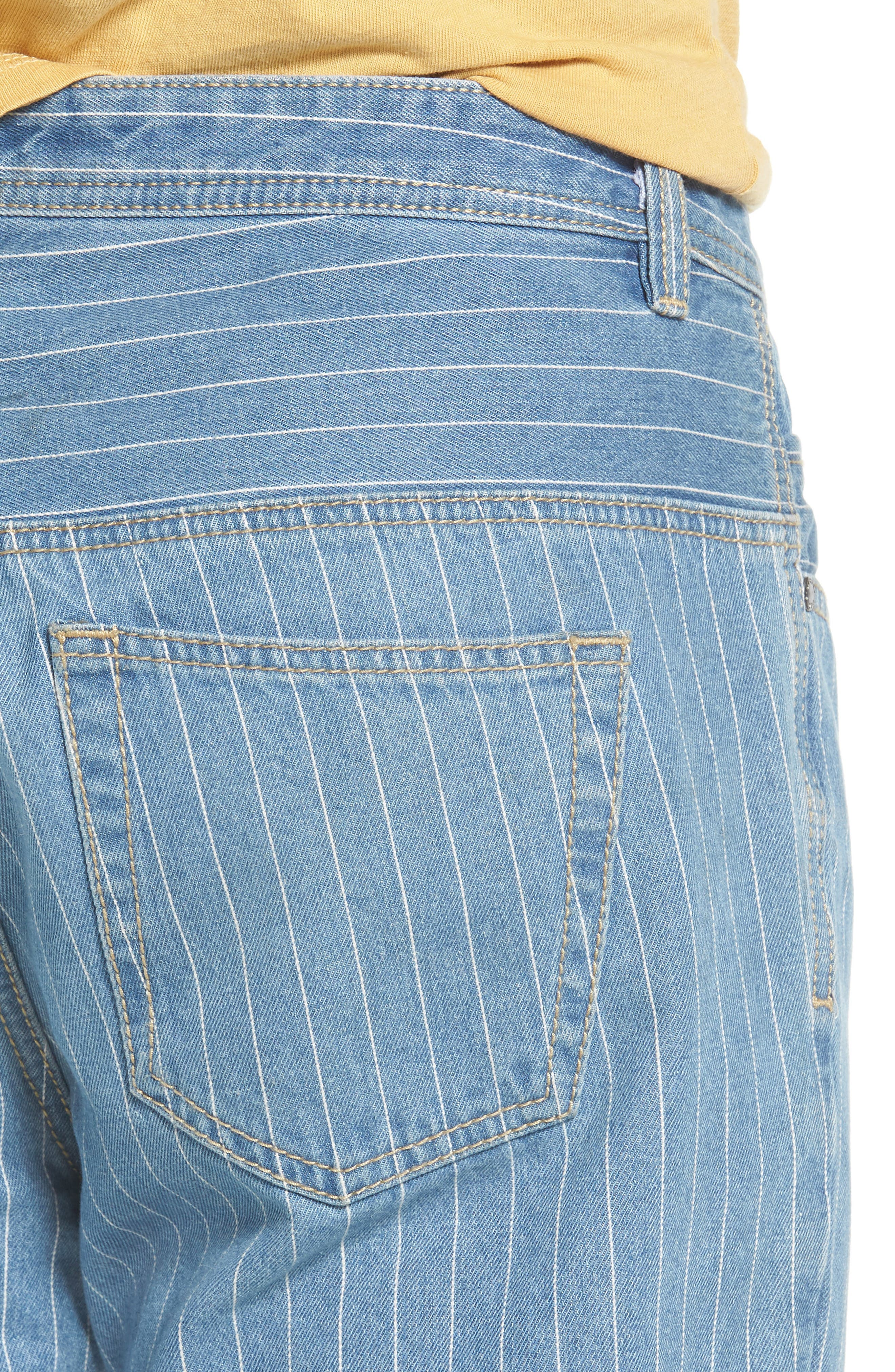 B. Relaxed Jeans,                             Alternate thumbnail 4, color,                             Stripe Denim Crop