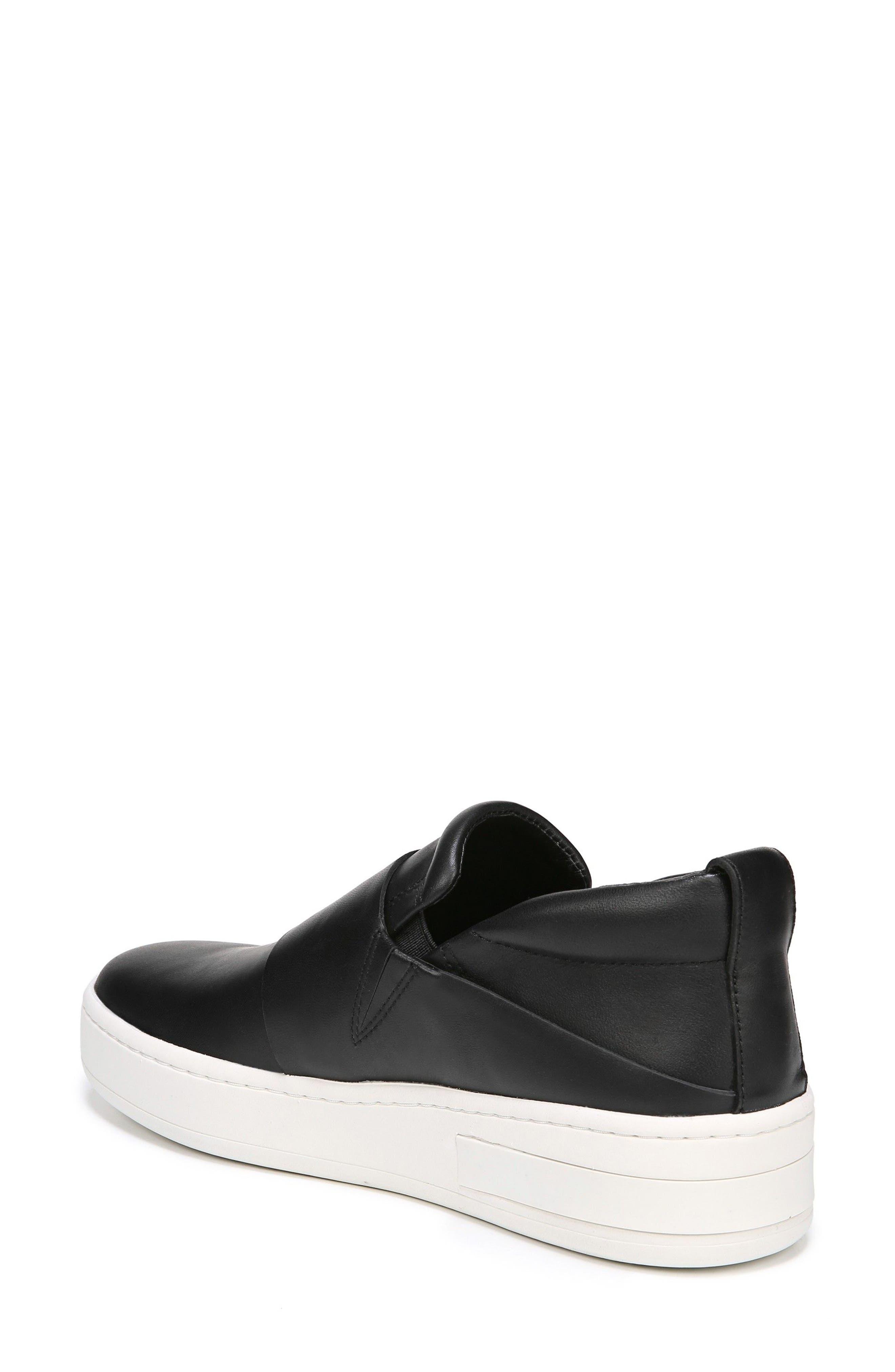 Ryder Slip-On Sneaker,                             Alternate thumbnail 2, color,                             Black Leather