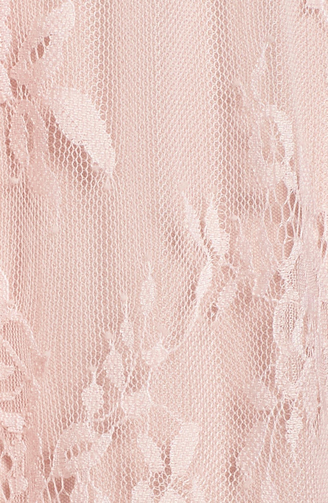 Eloise Halter Neck Lace Gown,                             Alternate thumbnail 5, color,                             Rose Quartz