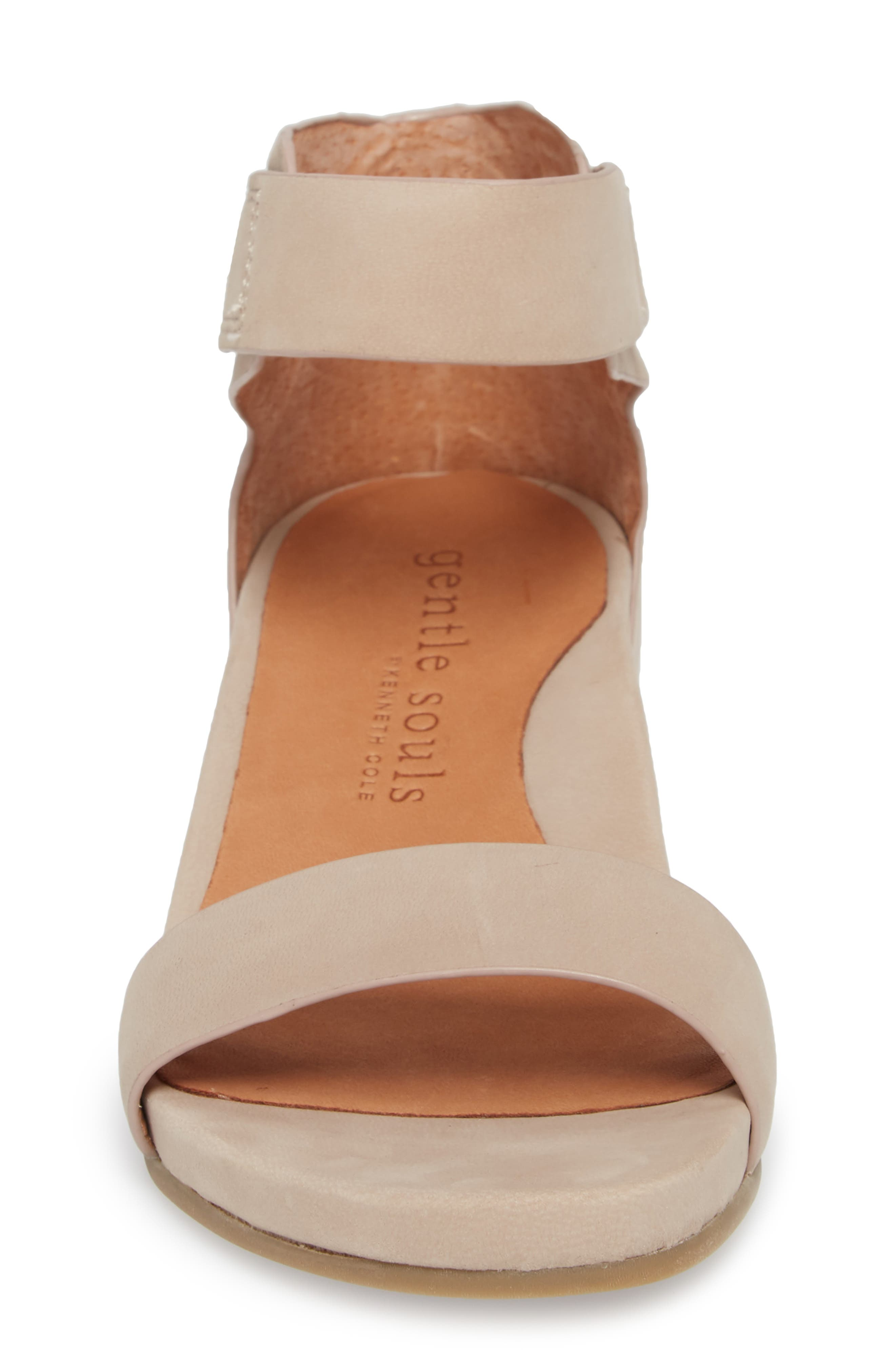 by Kenneth Cole Gianna Wedge Sandal,                             Alternate thumbnail 4, color,                             Mushroom Nubuck