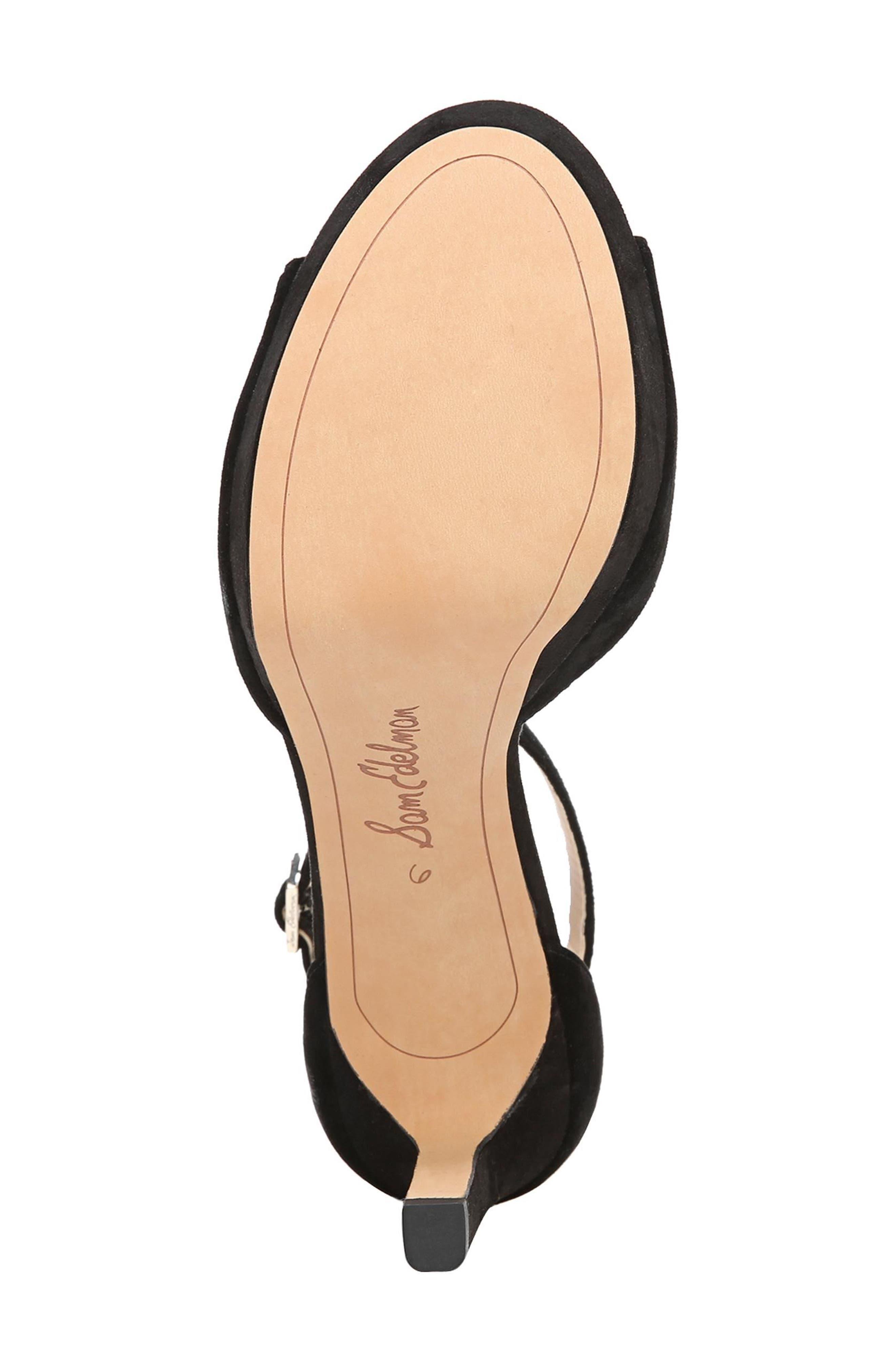 Jerin Platform Sandal,                             Alternate thumbnail 6, color,                             Black Suede