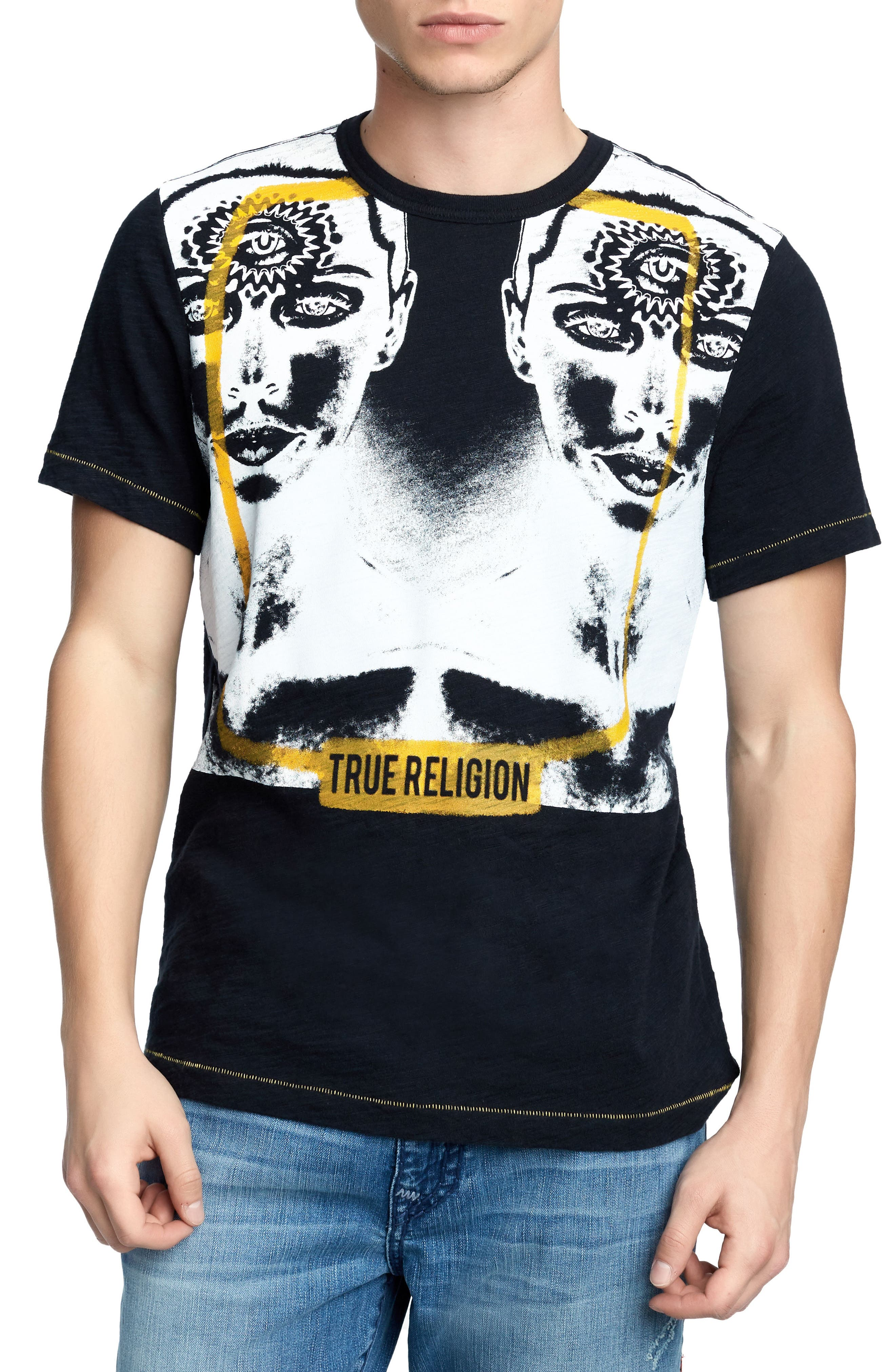 Two Faced T-Shirt,                             Main thumbnail 1, color,                             True Black