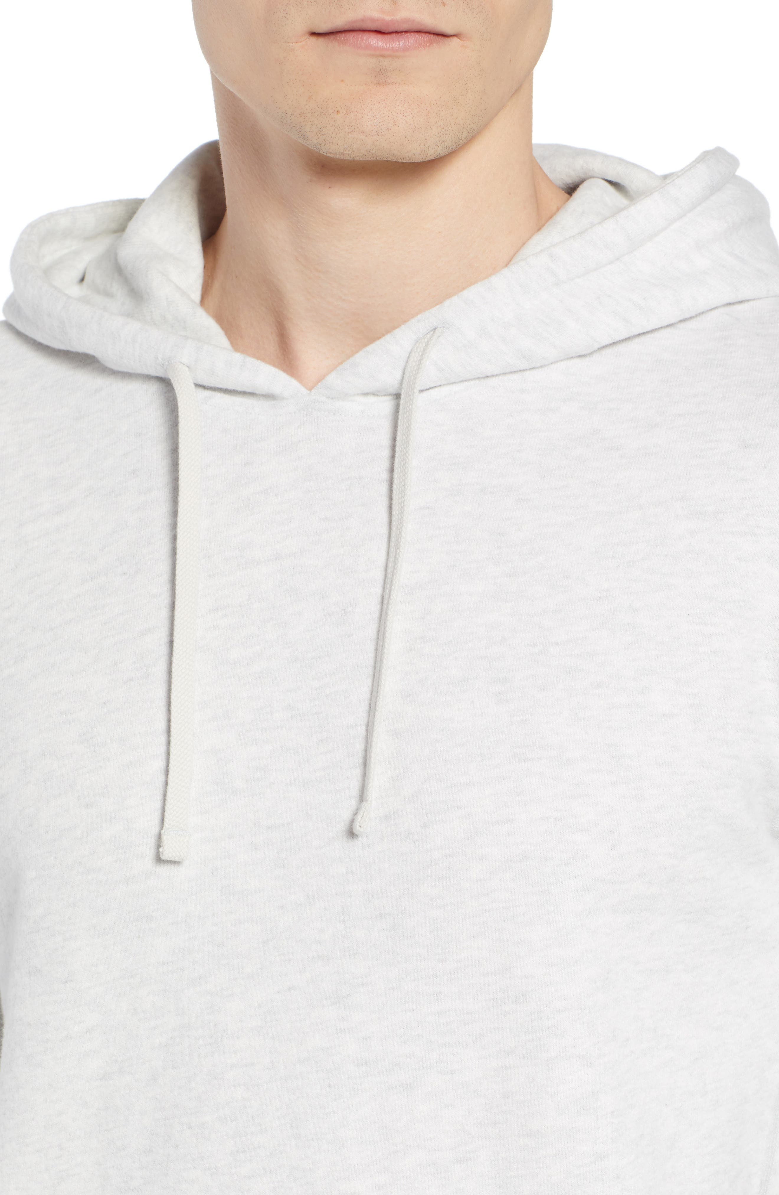 Lightweight Terry Pullover Hoodie,                             Alternate thumbnail 4, color,                             Heather Ash