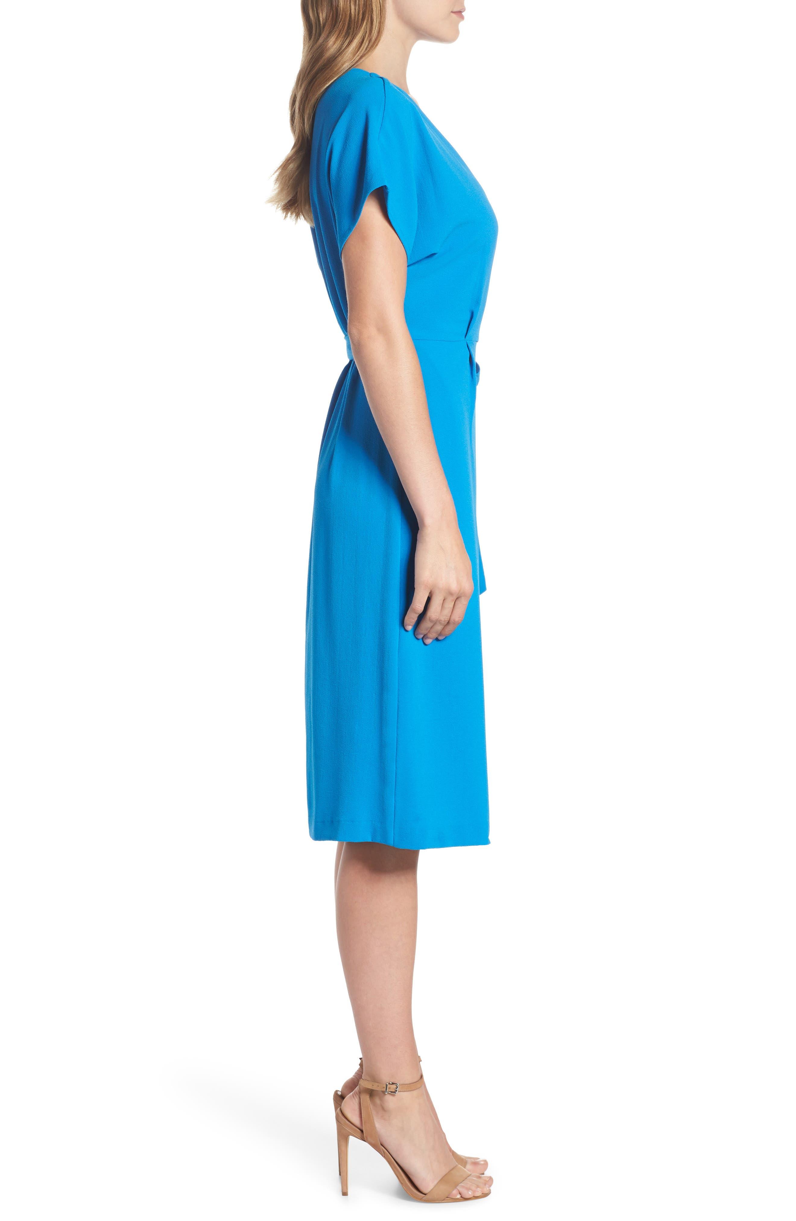 Rita Wrap Dress,                             Alternate thumbnail 3, color,                             Cobalt