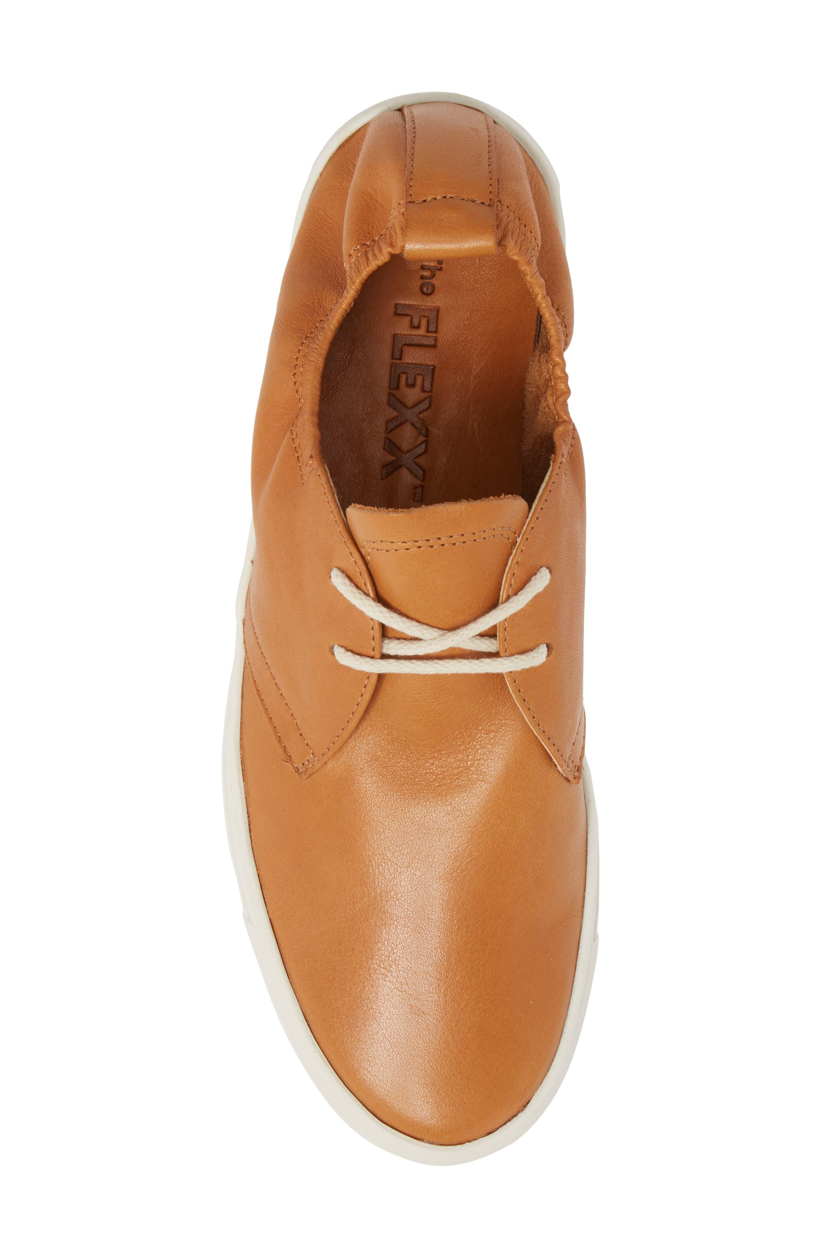 Sneak Up Sneaker,                             Alternate thumbnail 5, color,                             Cognac Leather