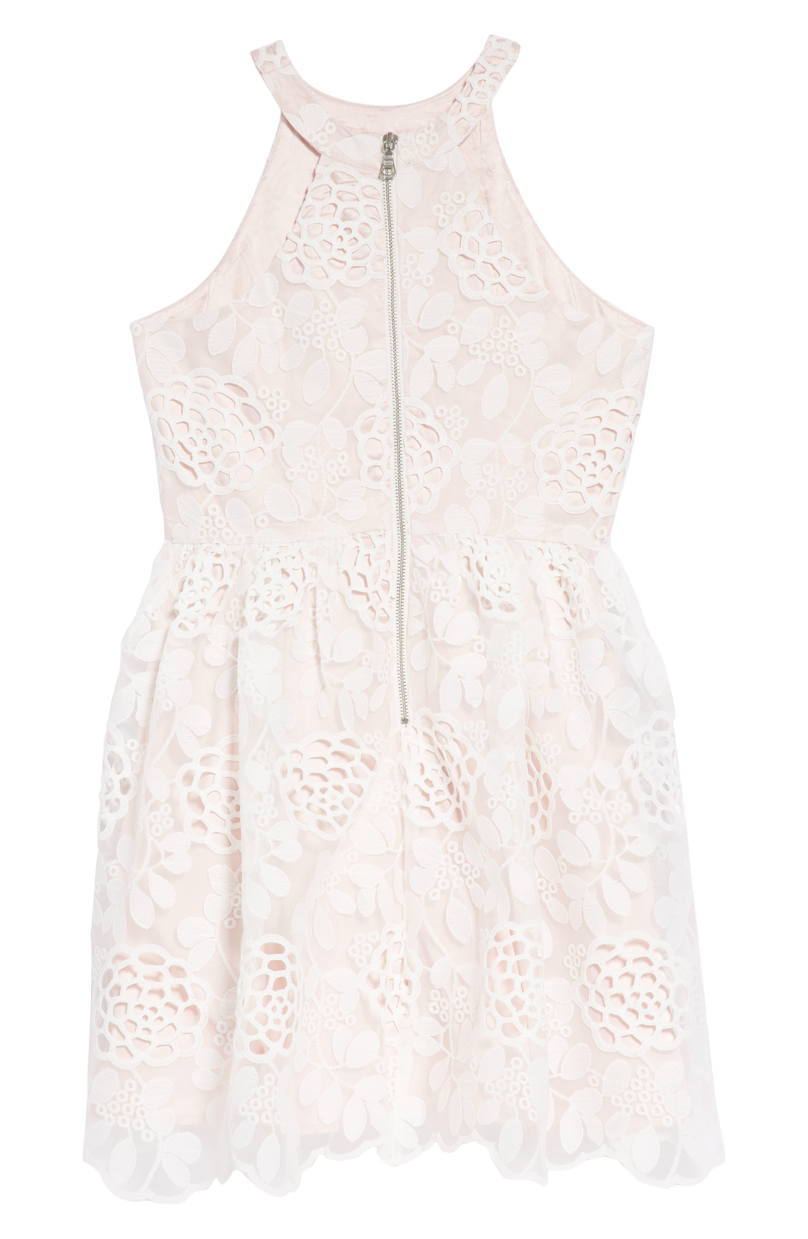 Primrose Lace Dress,                             Alternate thumbnail 2, color,                             Orchid White