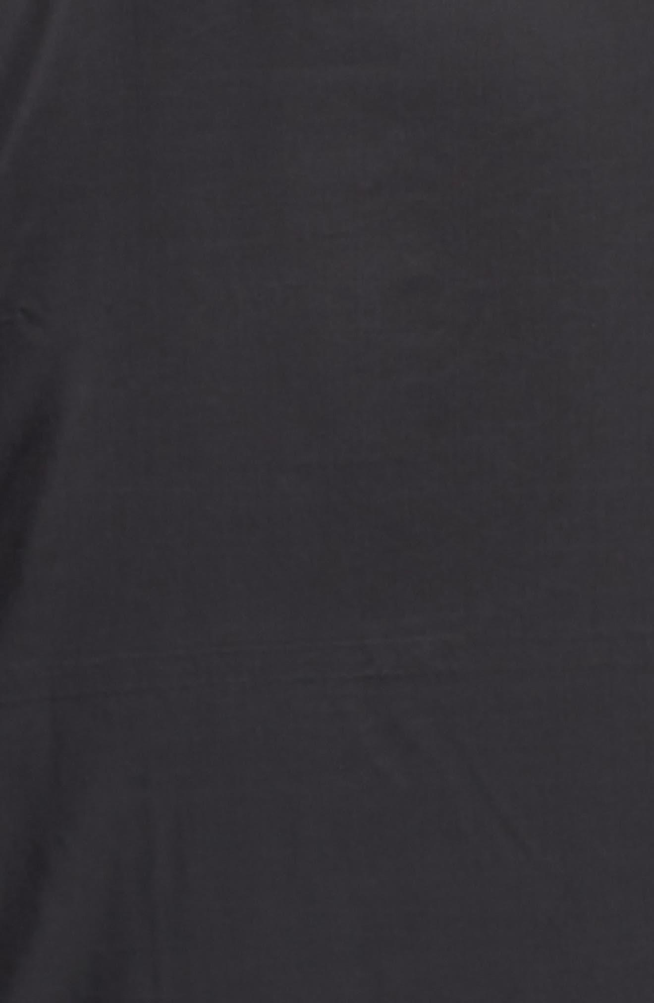 Shield Full Zip Golf Jacket,                             Alternate thumbnail 5, color,                             Black/ Silver